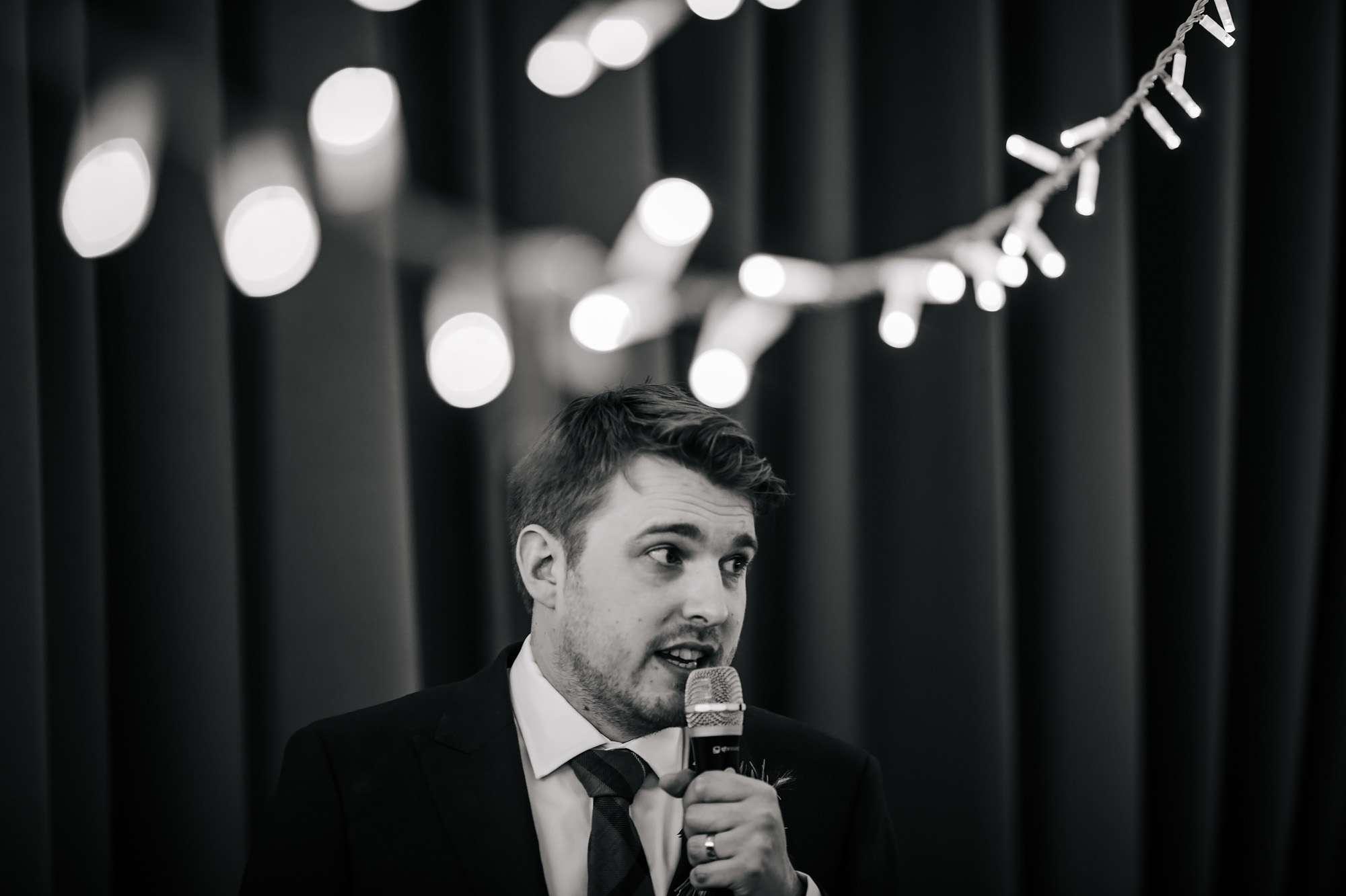 Groom's wedding speech at East Keswick Village Hall