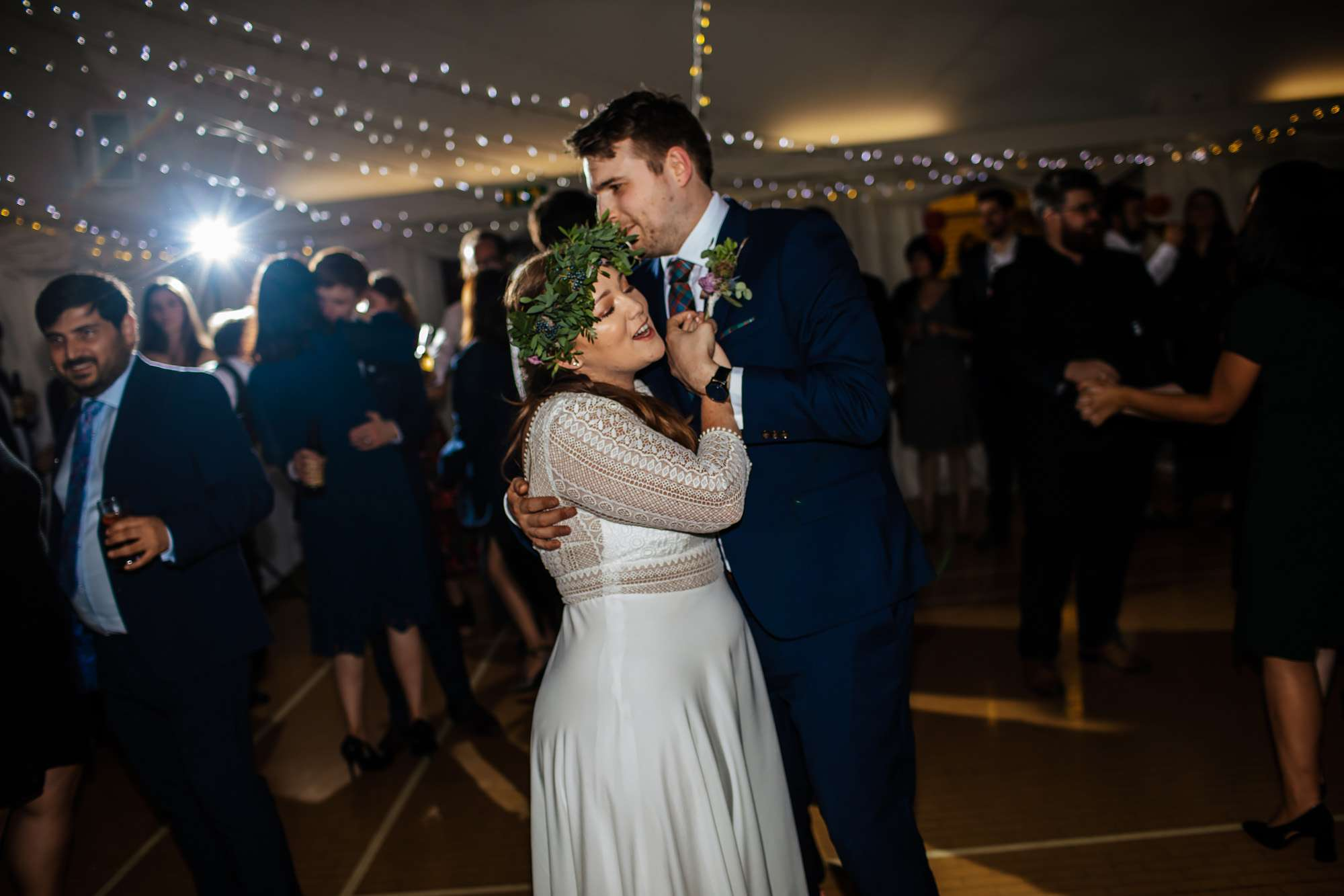 First dance at a wedding at East Keswick Village Hall