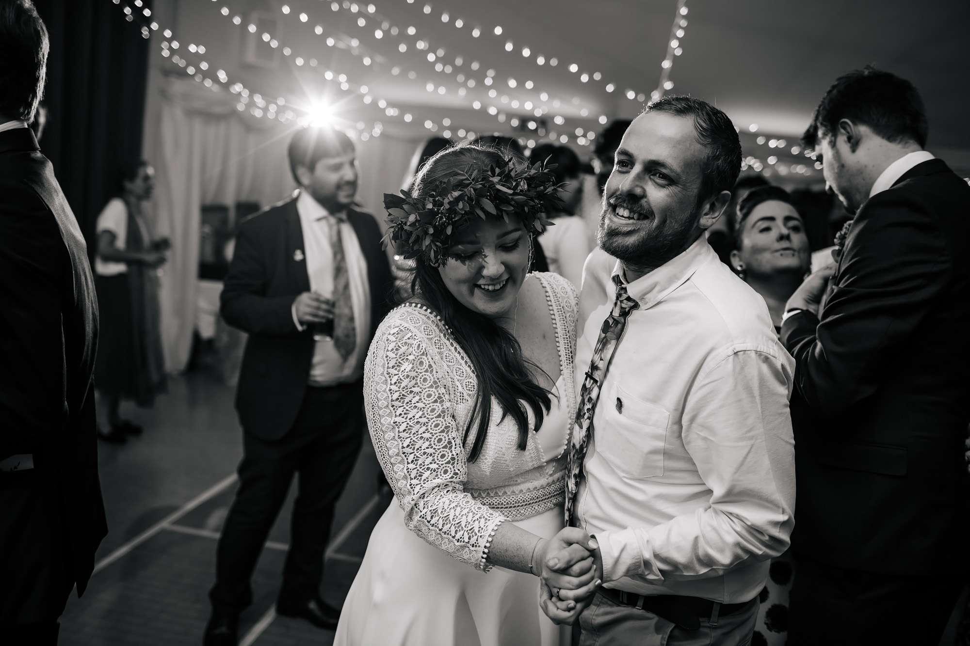 Wedding guests dancing in Leeds