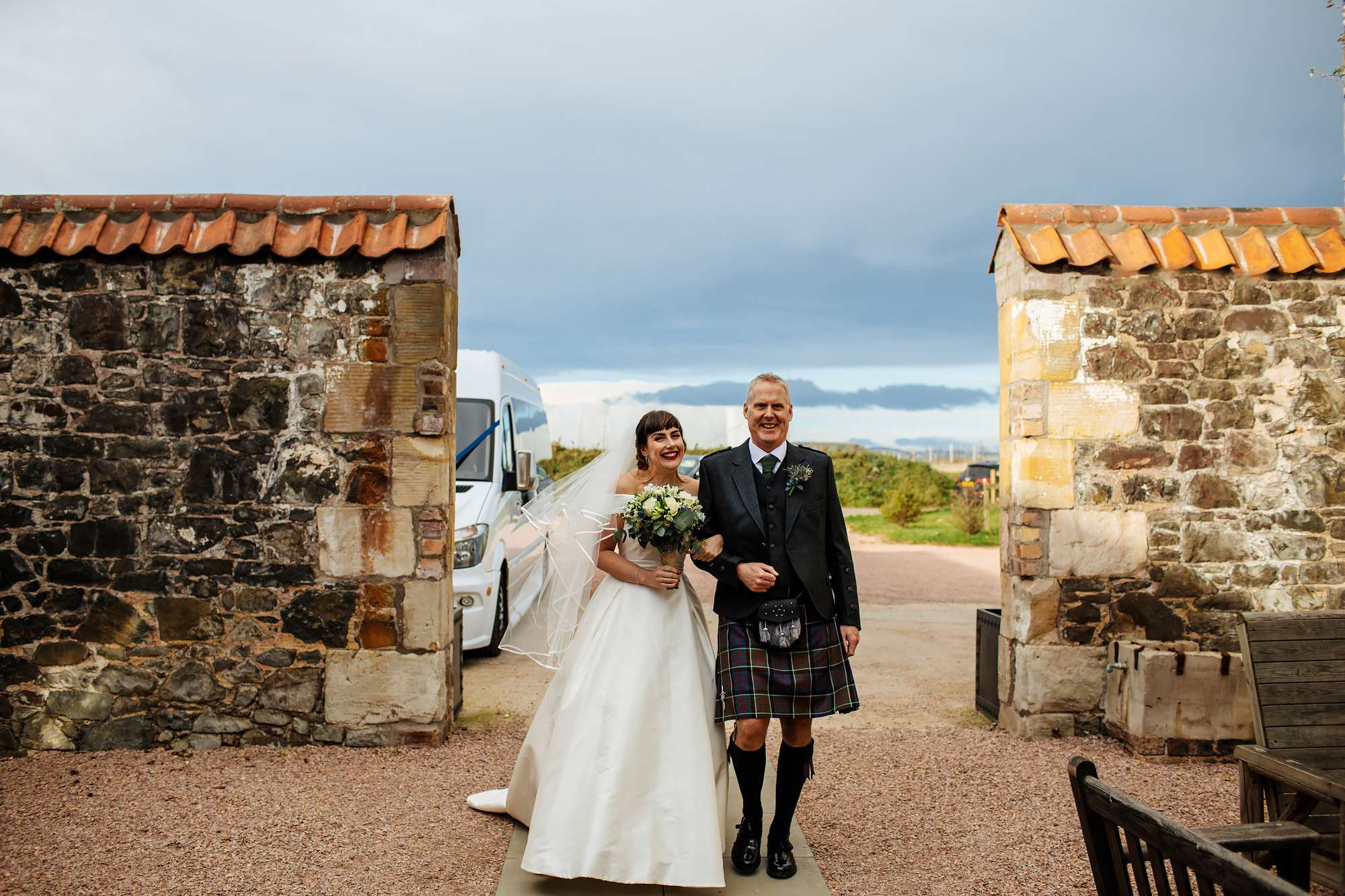 Bride and dad at The Rhynd Leuchars