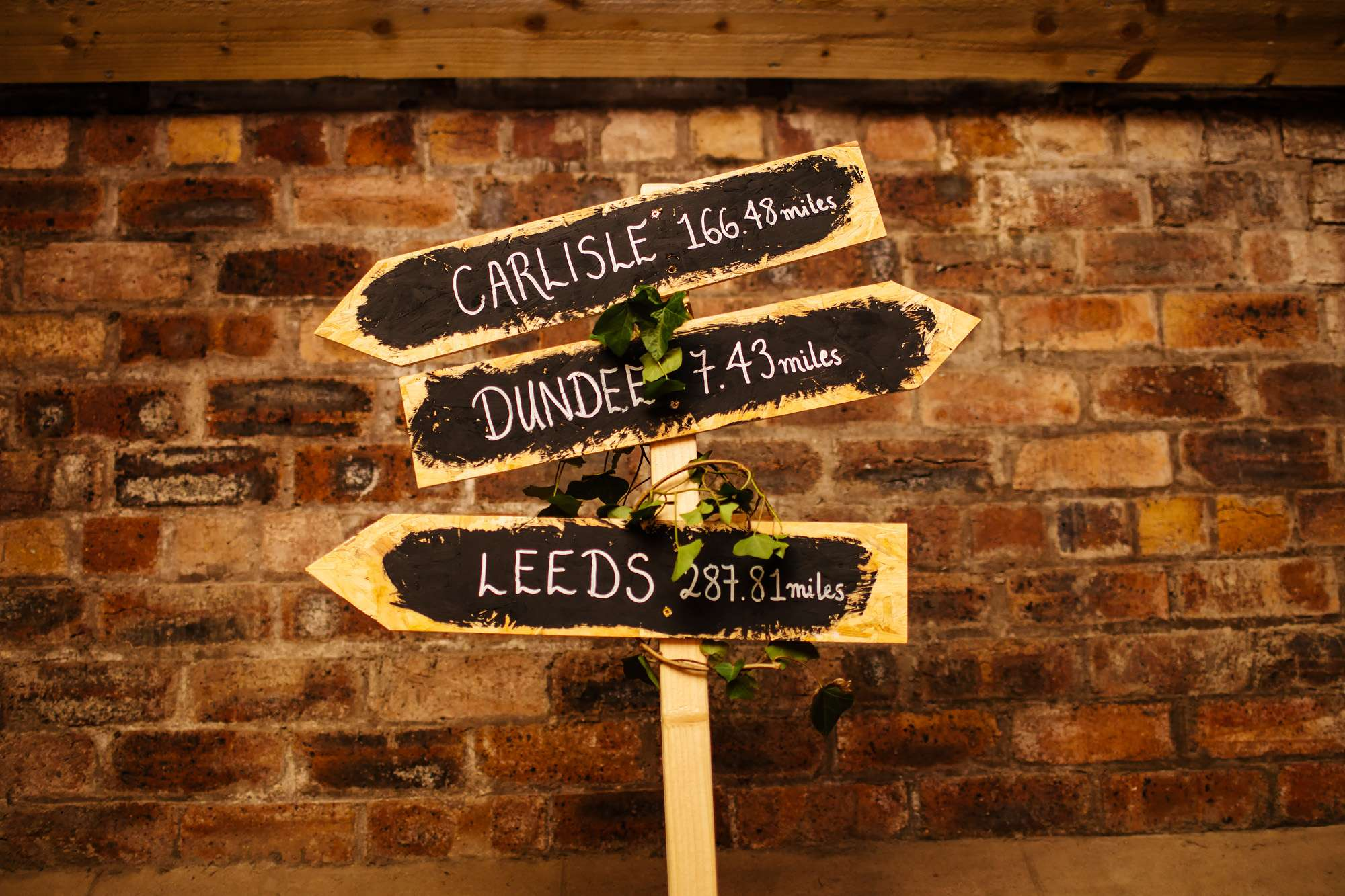 Wedding sign for decoration
