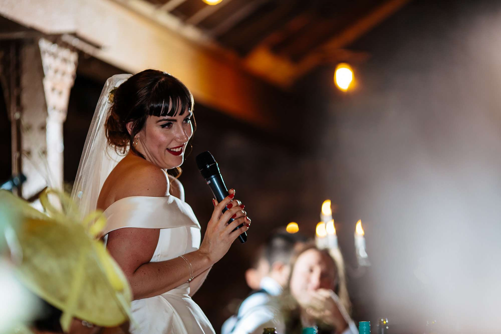 Bride's speech on her wedding day at The Rhynd Leuchars