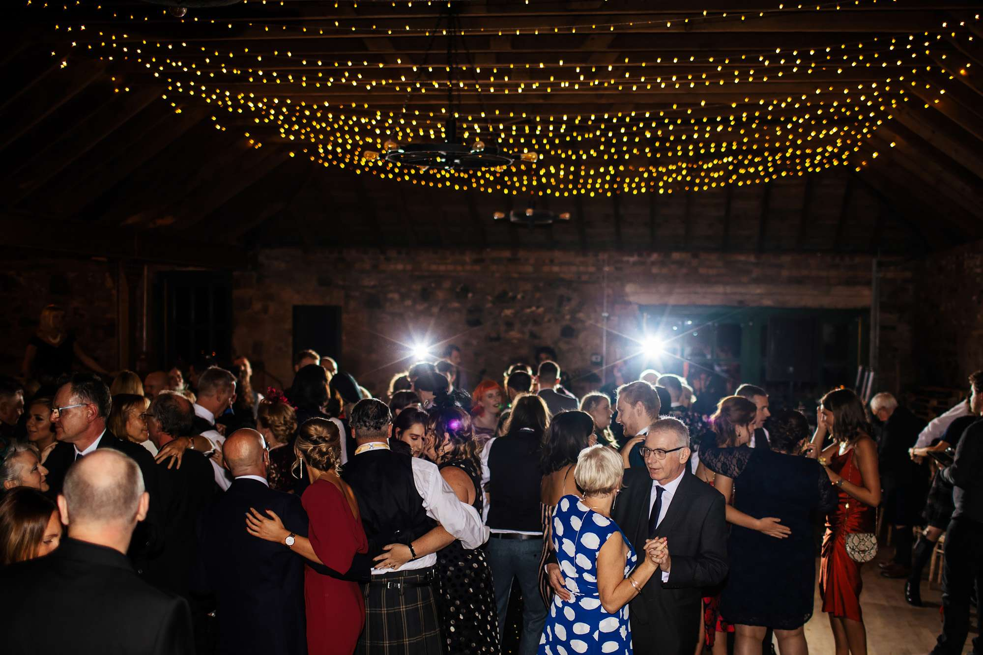 Wedding guests dancing at The Rhynd Leuchars
