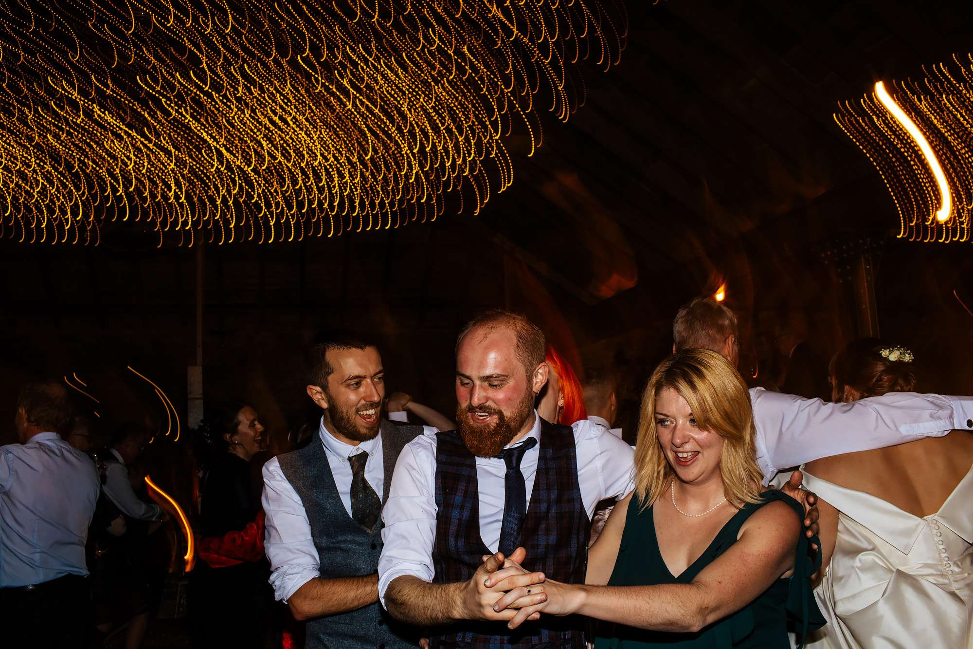 Ceilidh dancing at a wedding at The Rhynd Leuchars