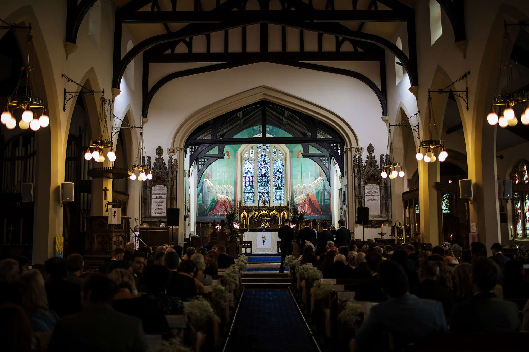Interior of the church at a Blackpool wedding