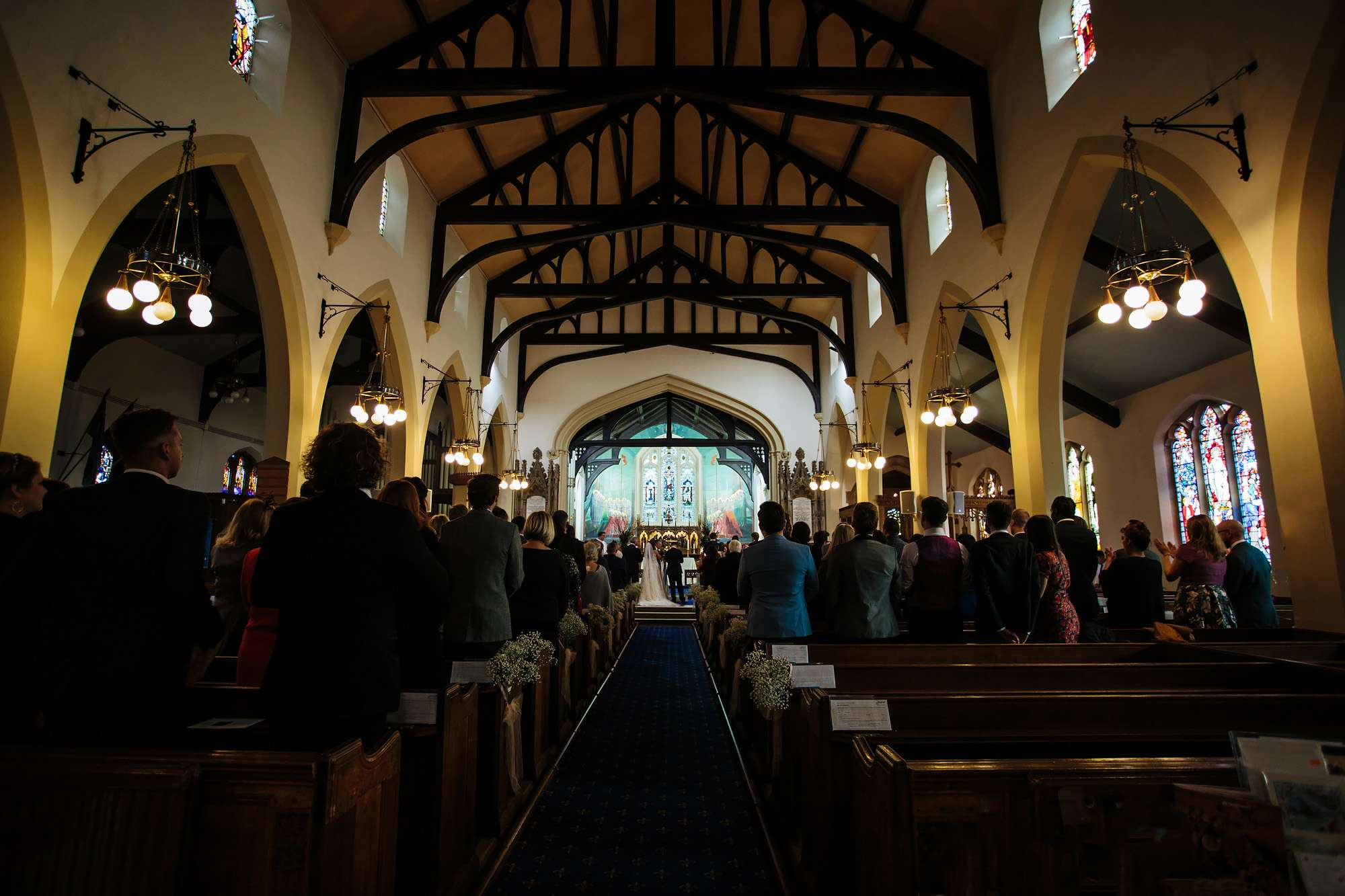 Wedding at a church in Blackpool