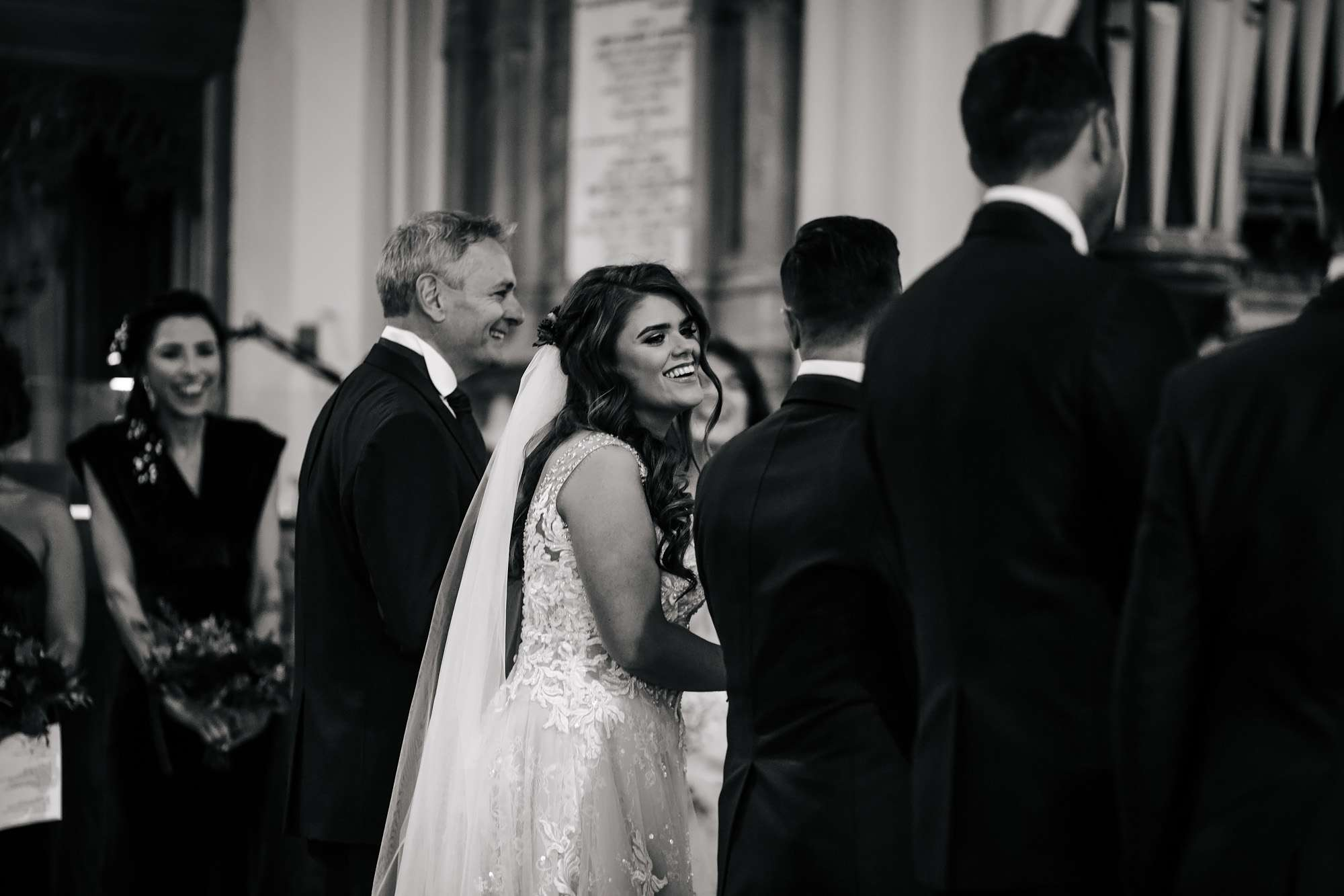 Bride at her church wedding ceremony in Blackpool