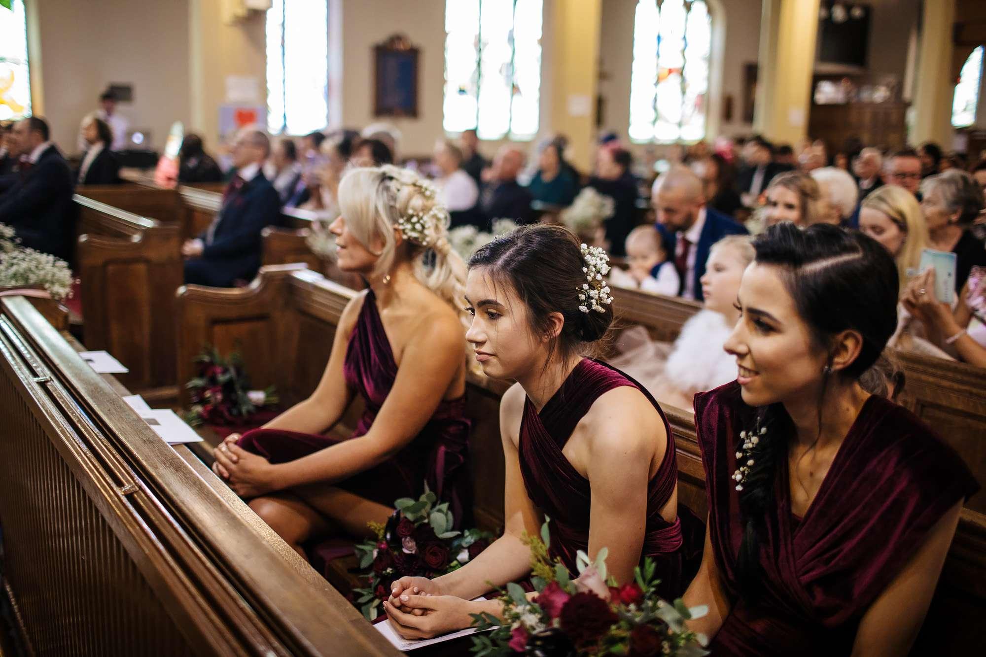 Bridesmaids at a wedding in Blackpool