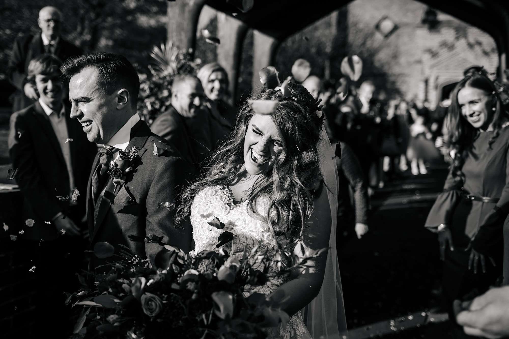 Confetti shot at a church wedding in Blackpool