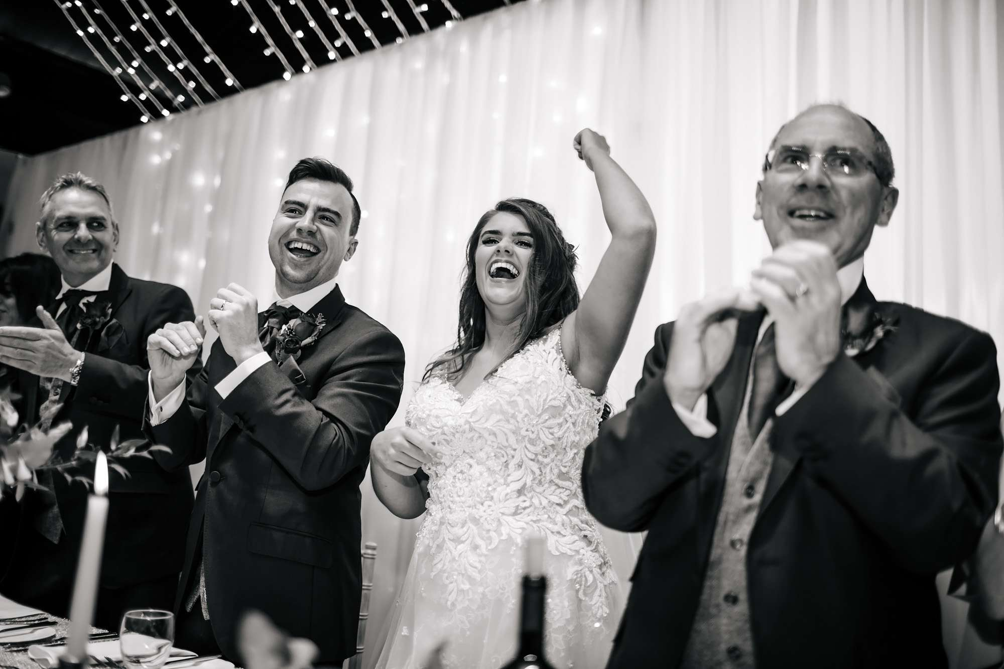 Bride and groom dancing at their wedding