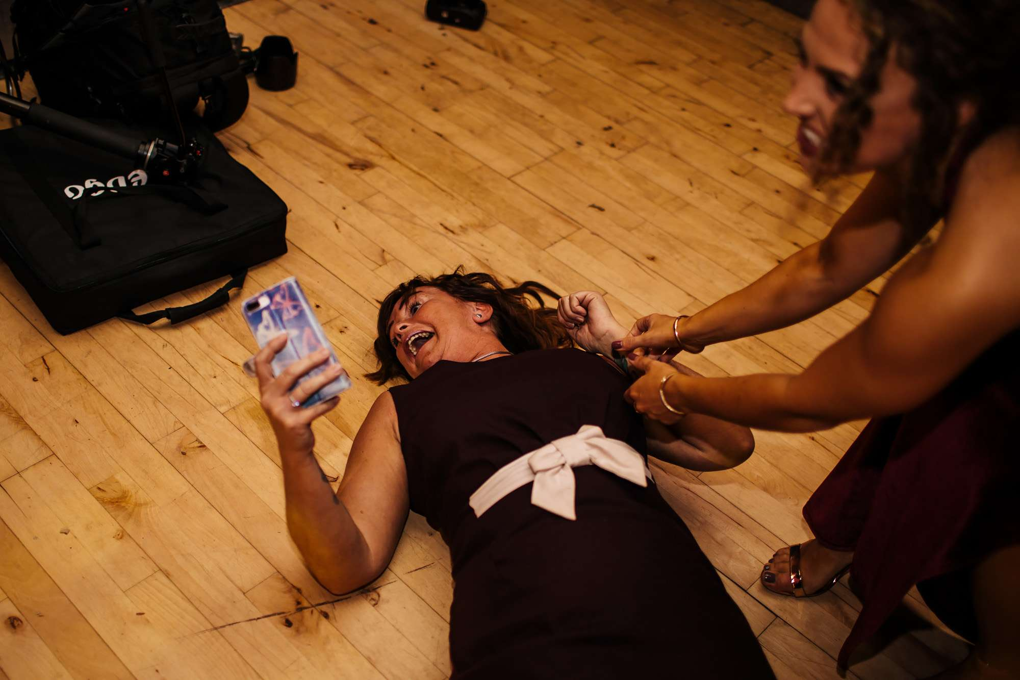 Wedding guests on the floor in Blackpool