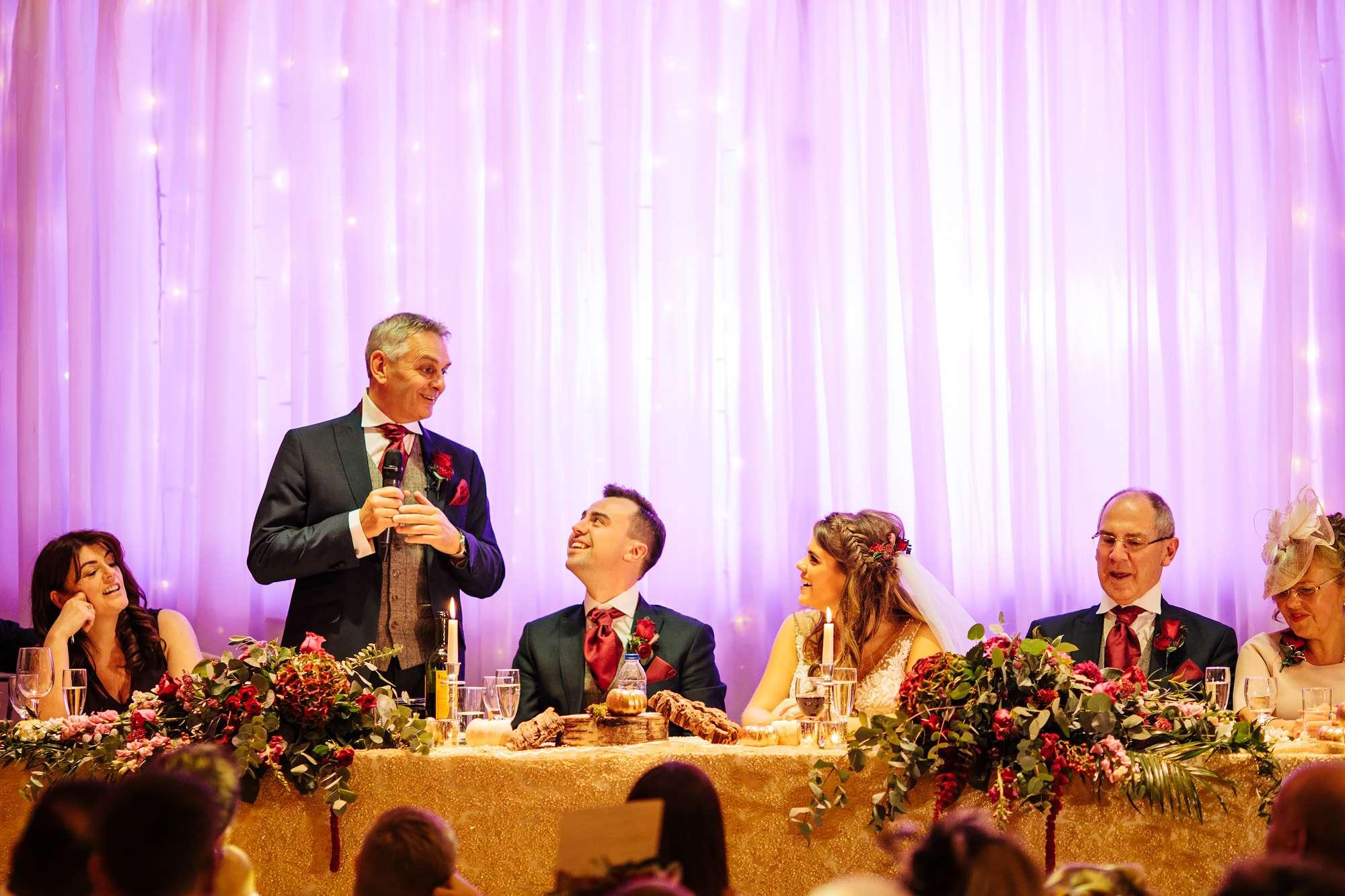 Bride's dad's speech at a wedding in Blackpool
