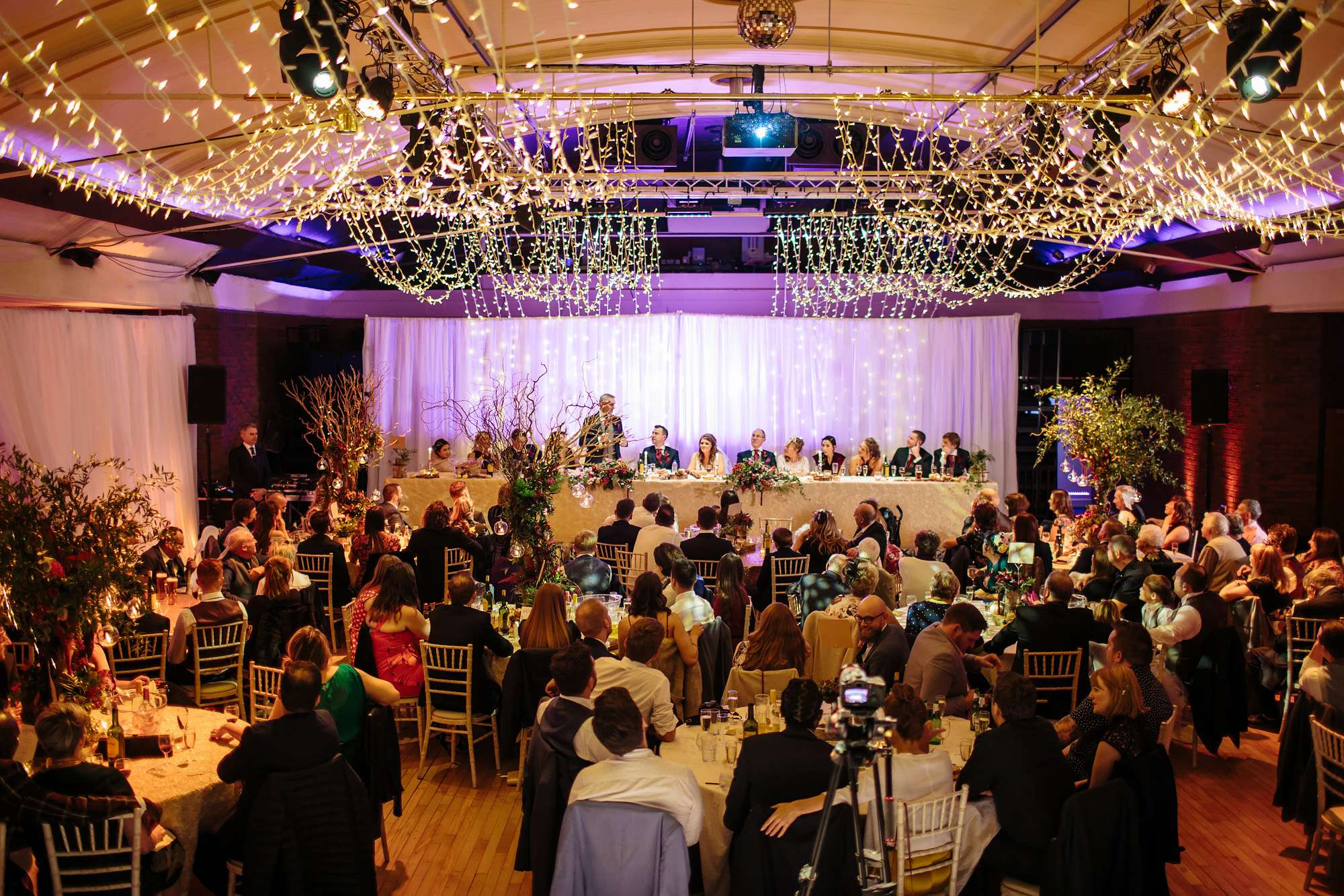 Speeches at a wedding in Blackpool