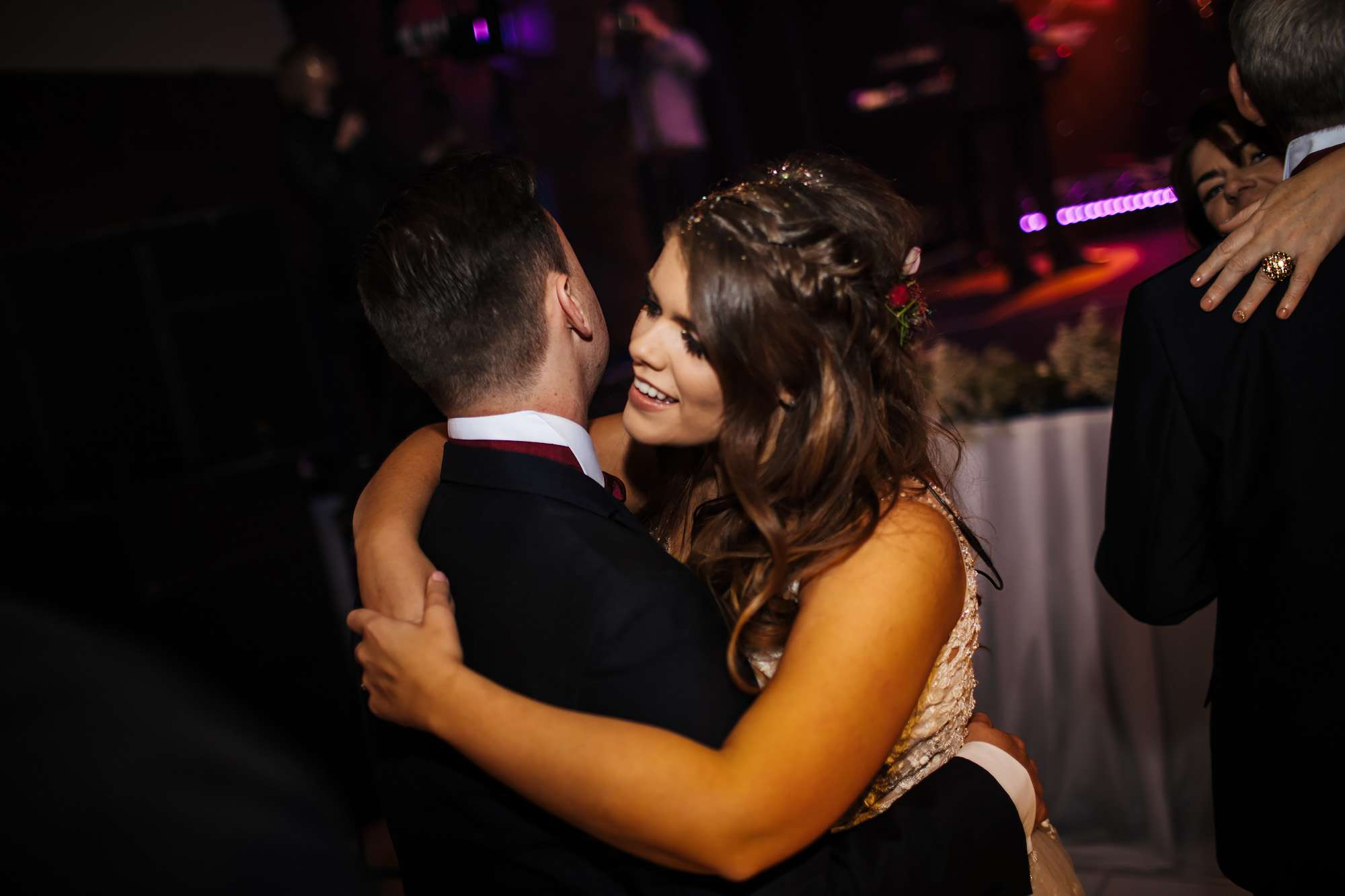 First dance as man and wife at a Blackpool wedding
