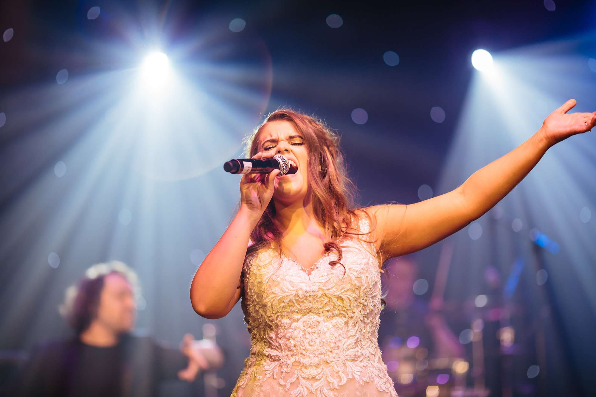 Bride singing at her own wedding