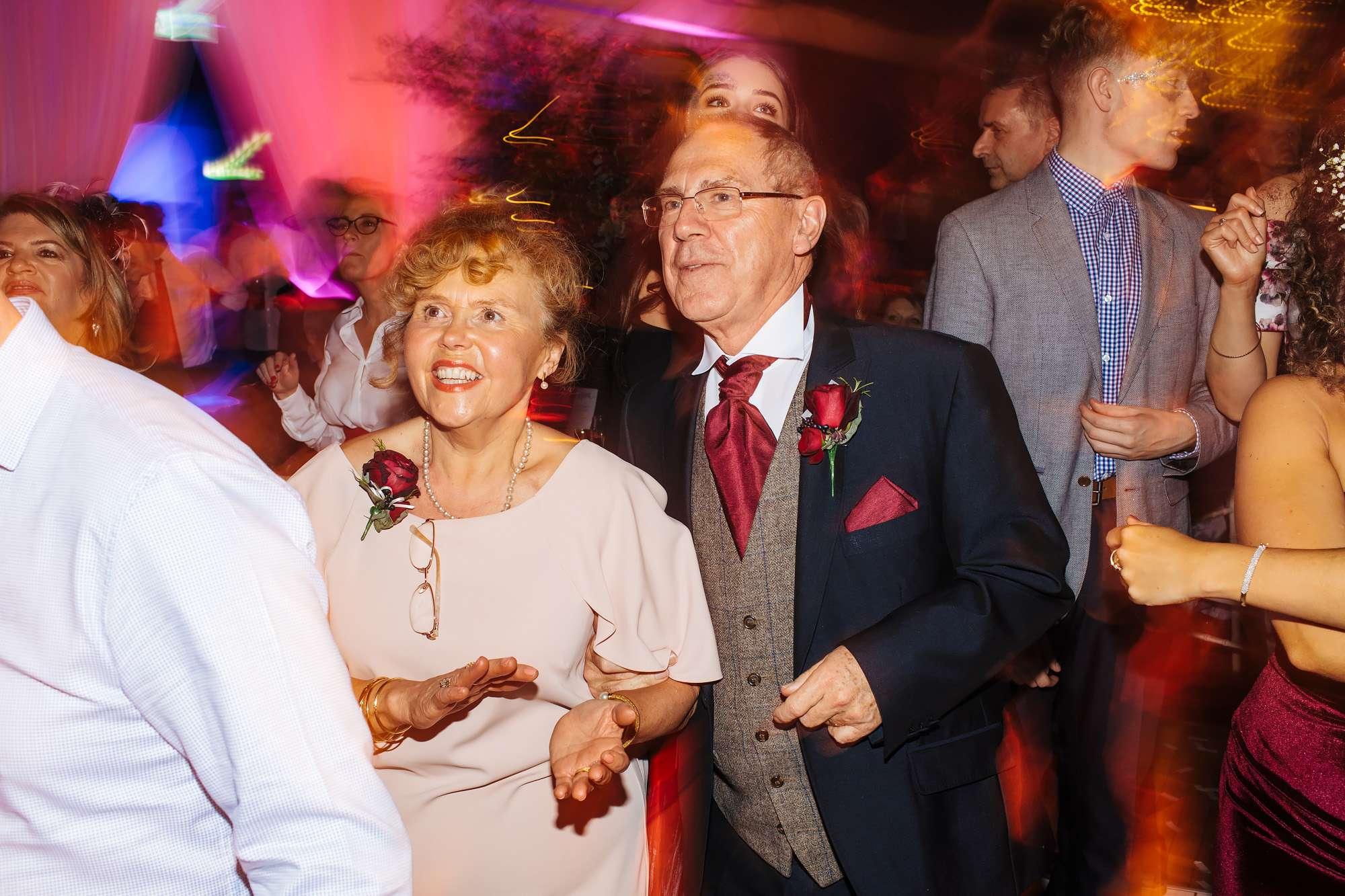 Bride's parents dancing at her wedding in Blackpool