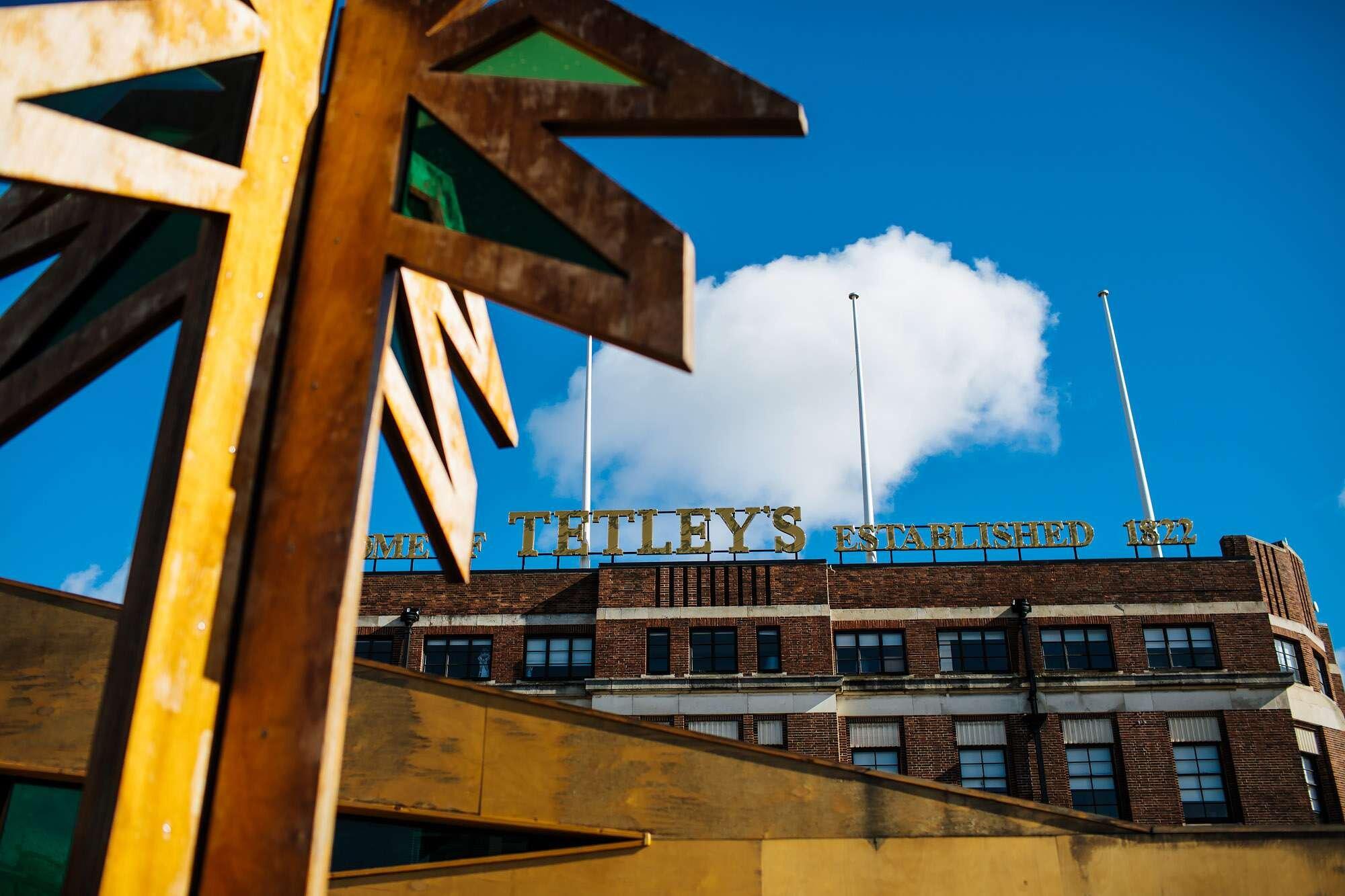 Blue sky over The Tetley Leeds wedding