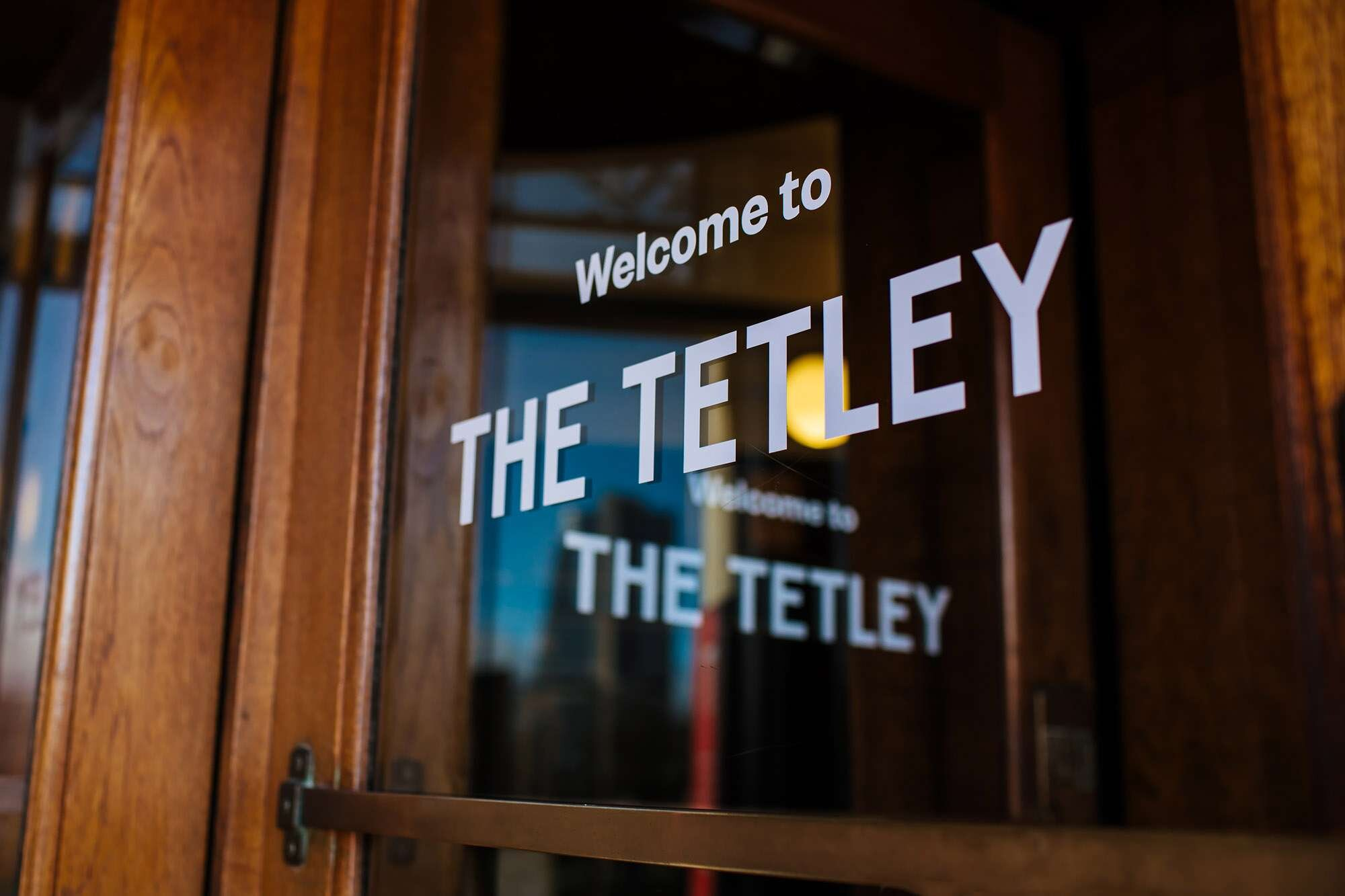 Door sign at The Tetley Leeds