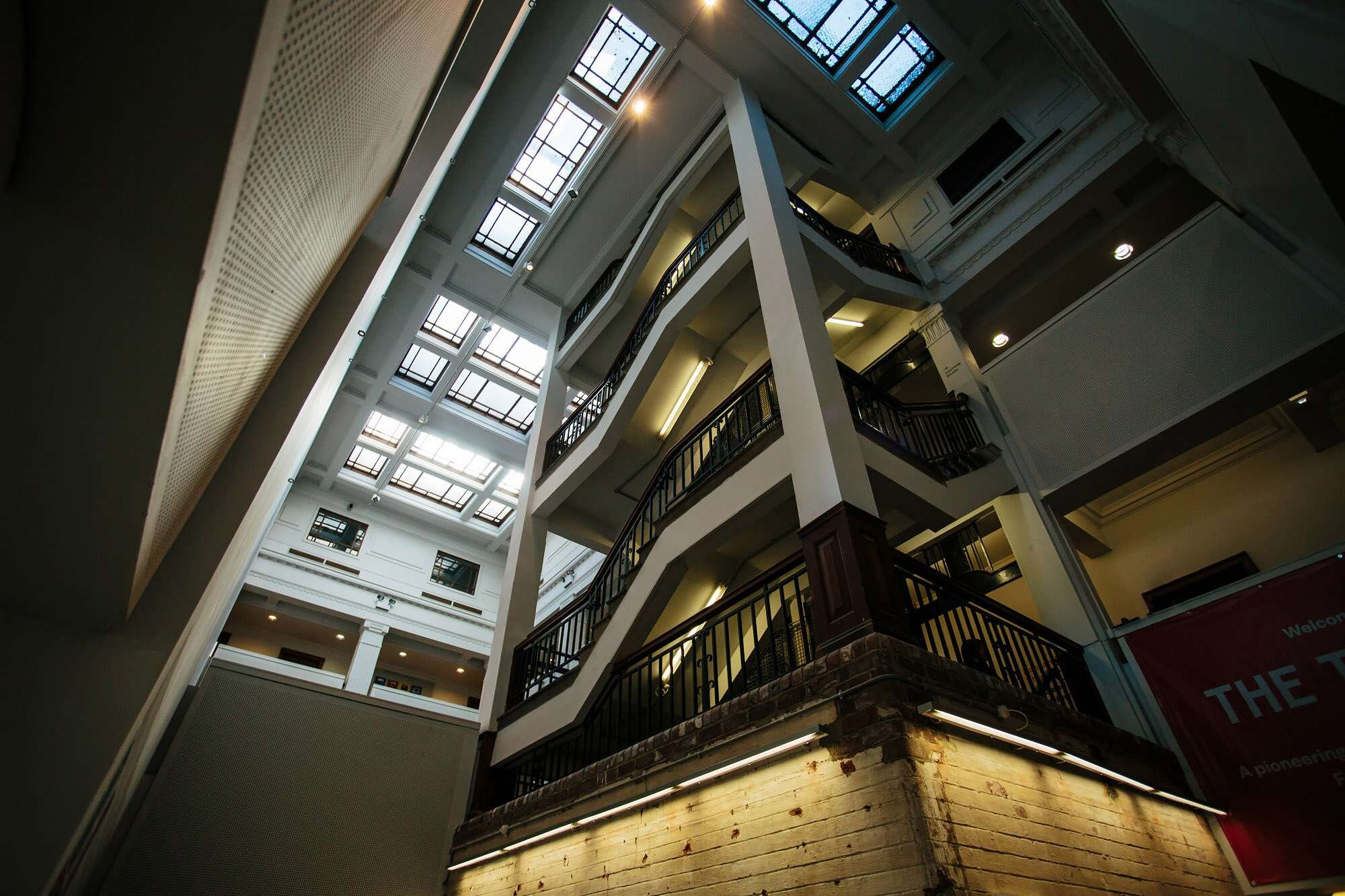 Interior staircase at The Tetley Leeds