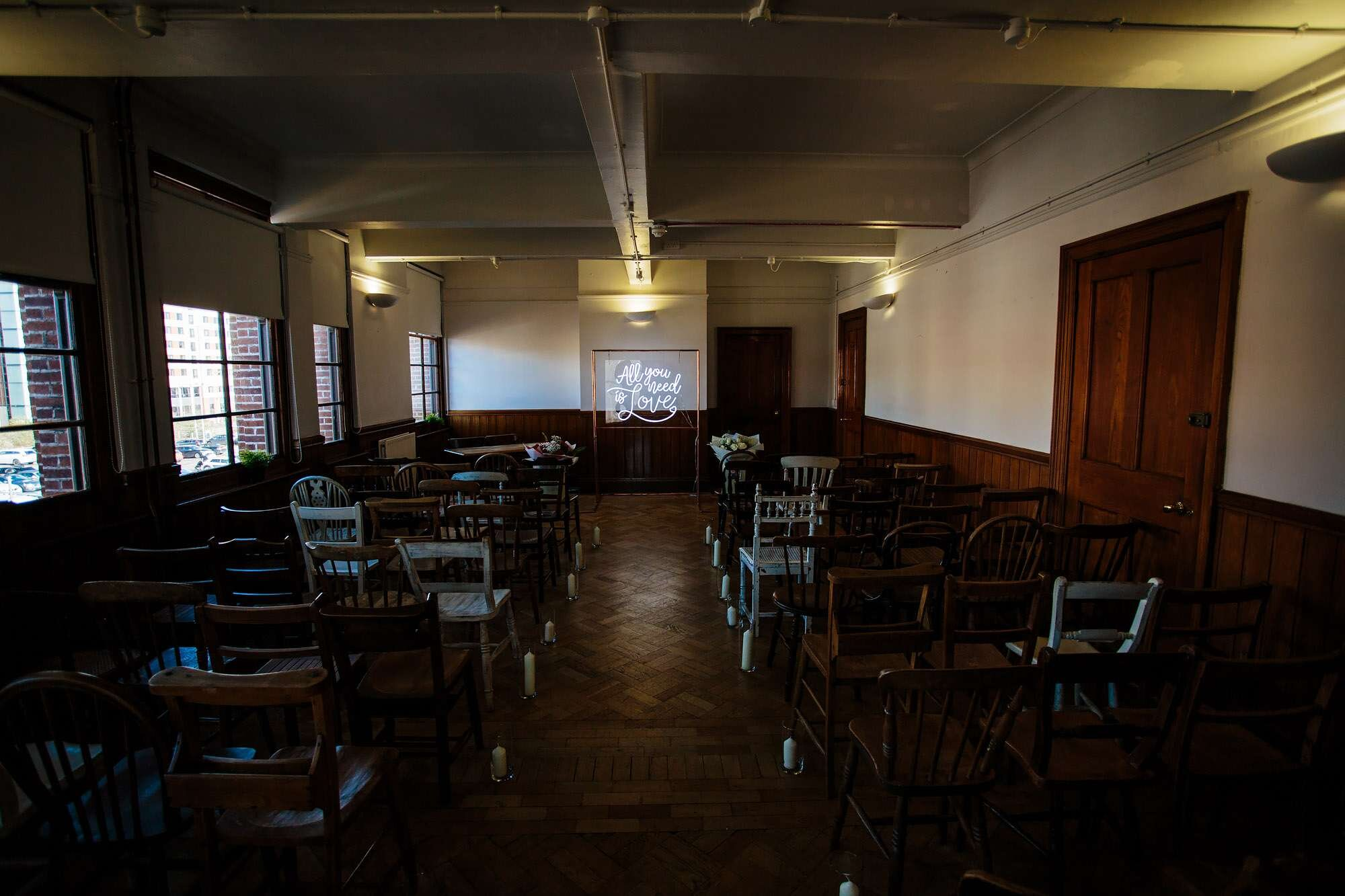 Wedding ceremony room at The Tetley Leeds