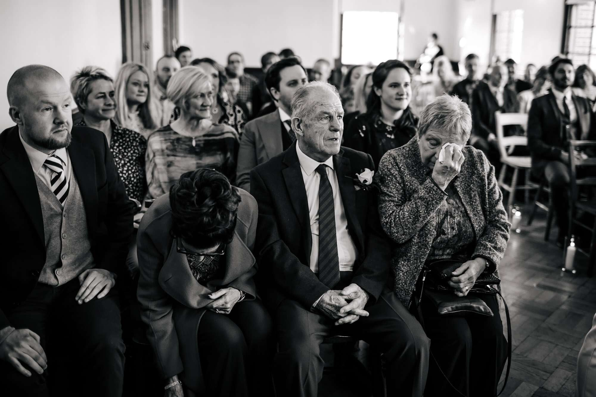 Wedding guests' tears at The Tetley Leeds