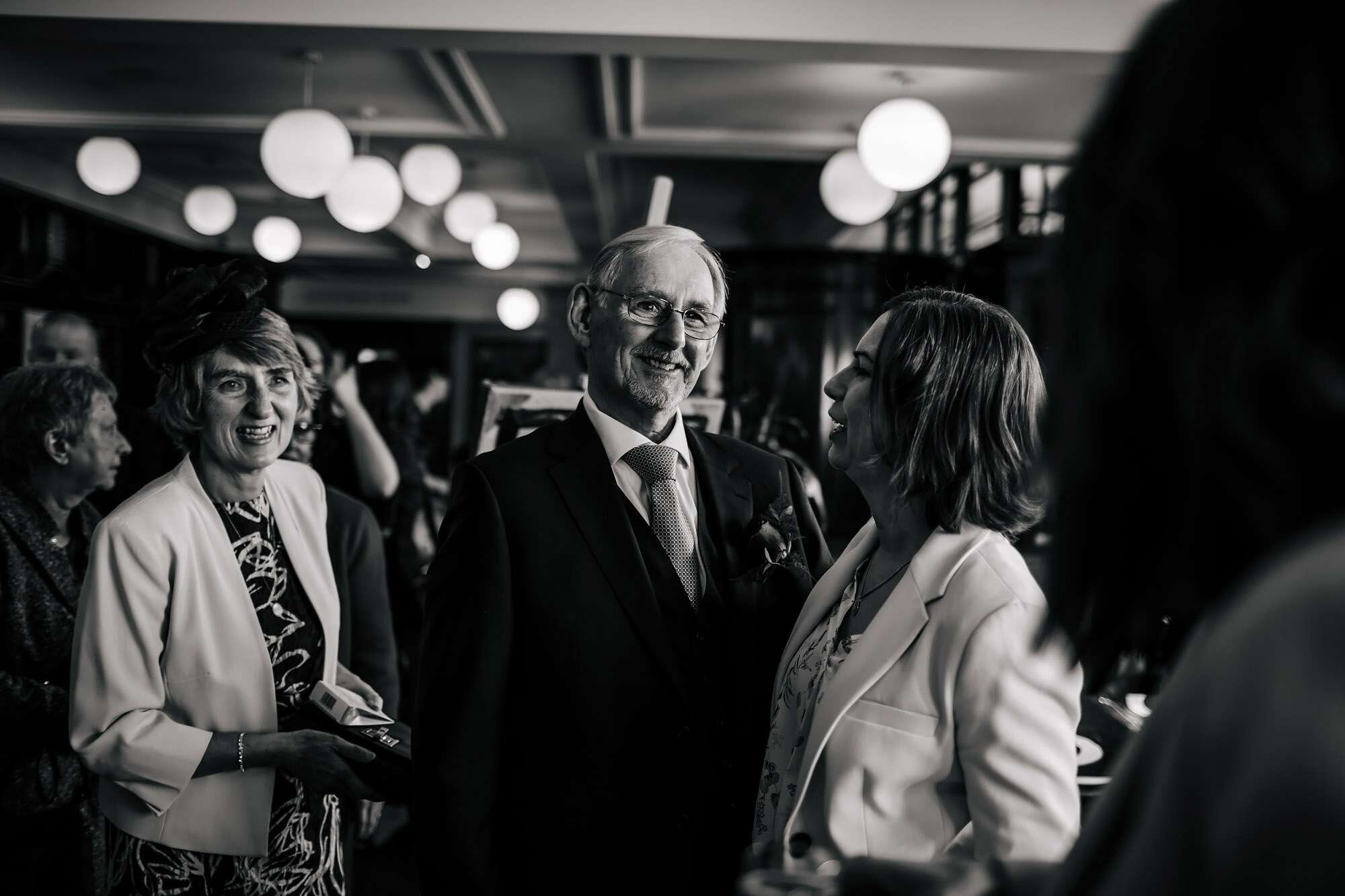 A proud father look on at The Tetley Leeds wedding