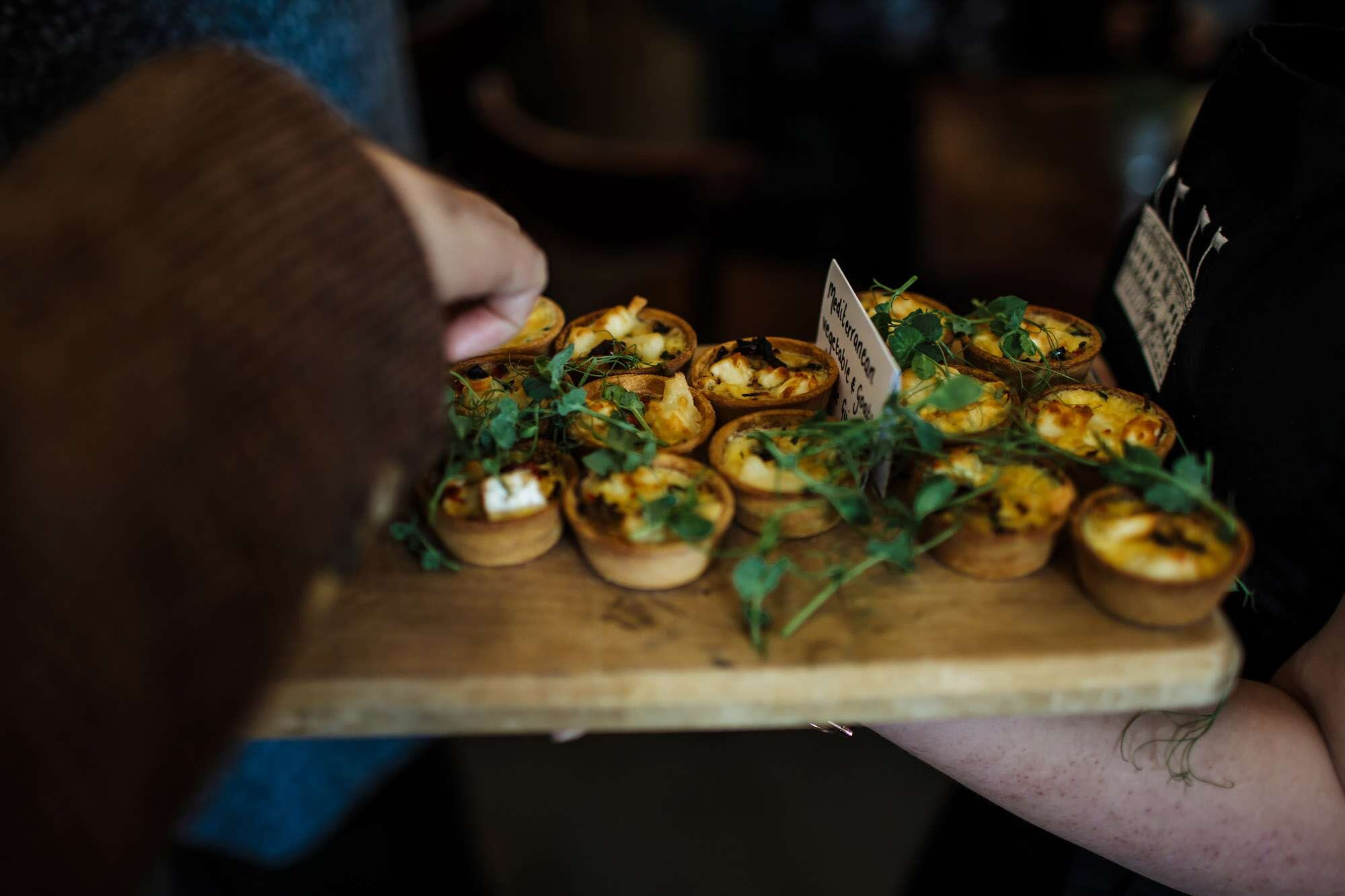 Canapes at a wedding in Leeds