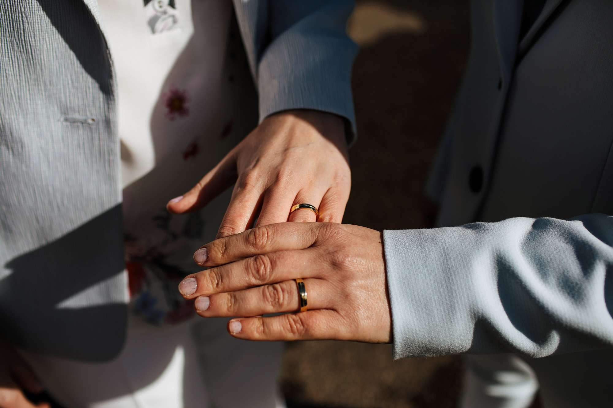Wedding rings at a gay wedding
