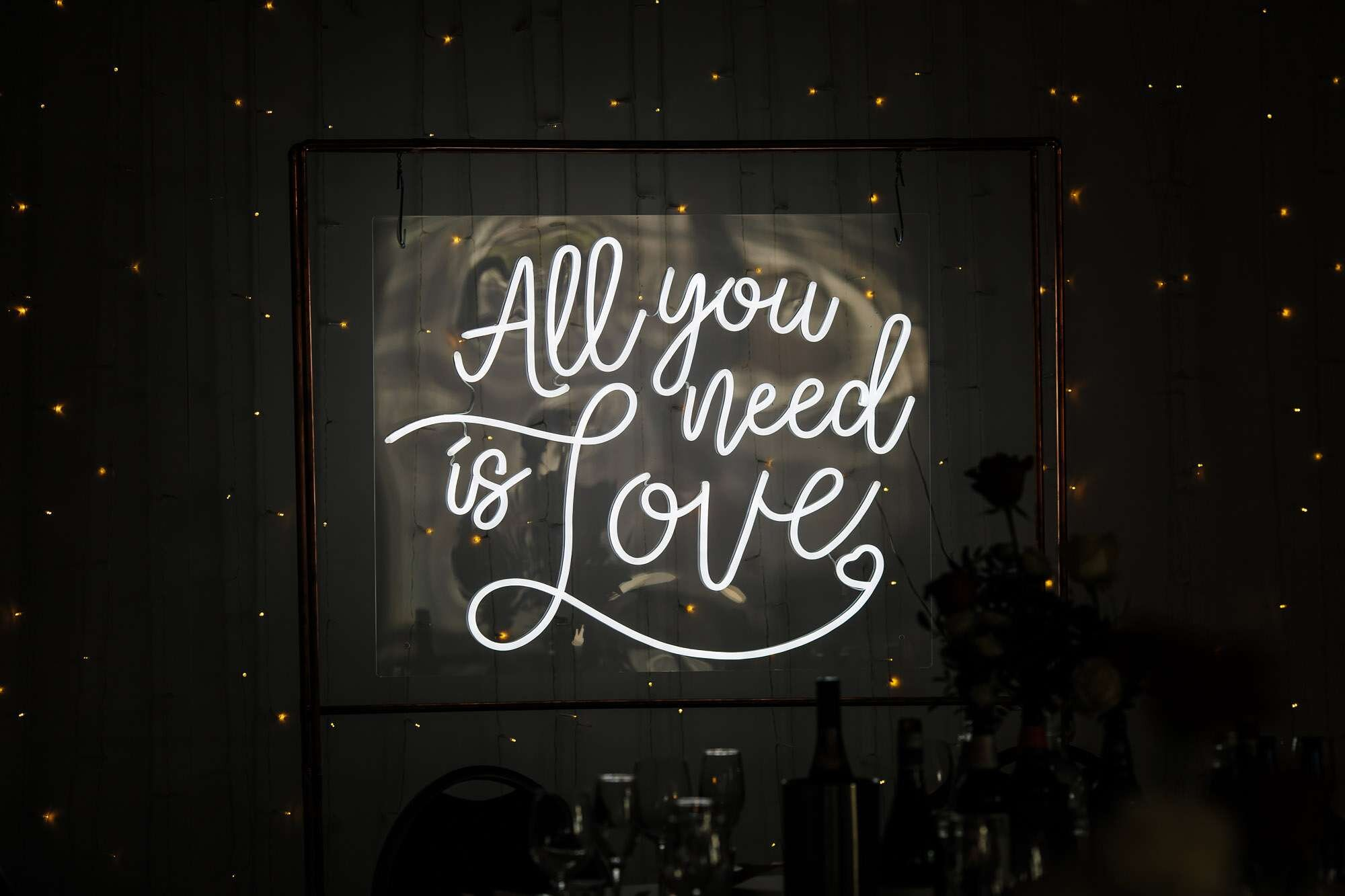 All you need is love neon sign