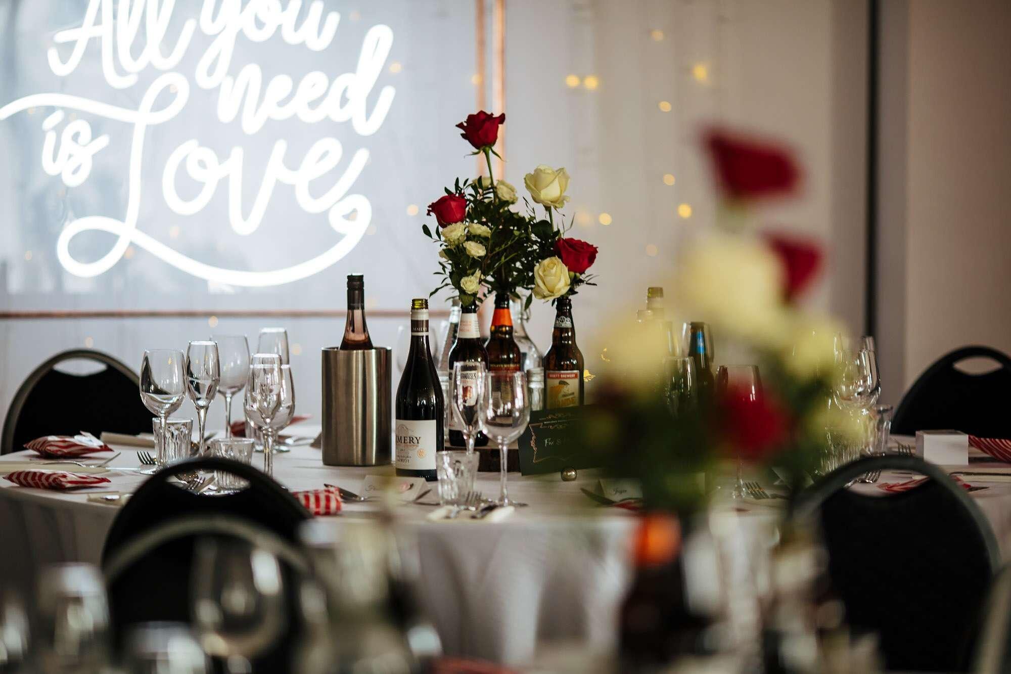 Wedding table decorations in Leeds