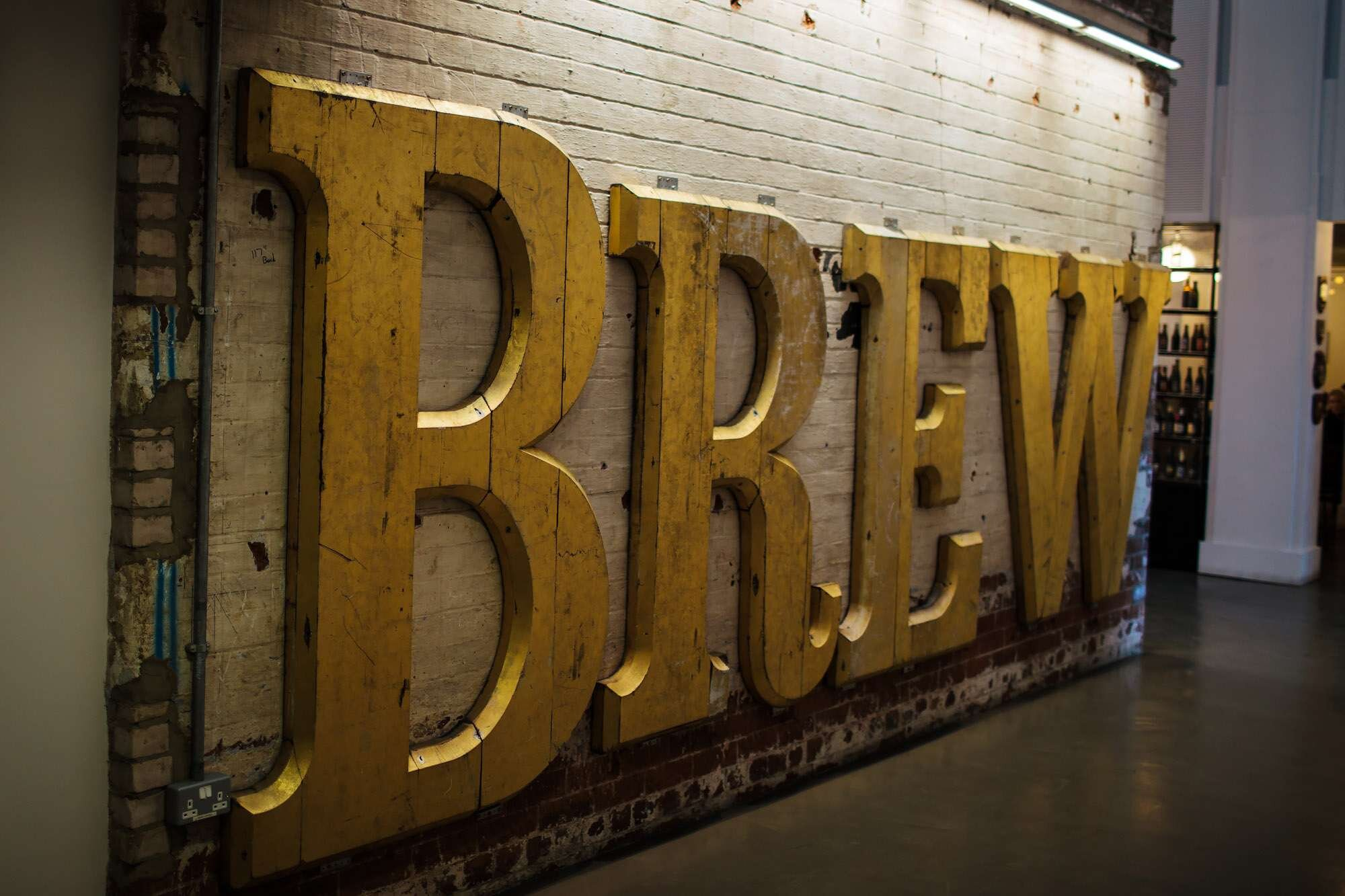 Brew sign at The Tetley Leeds wedding