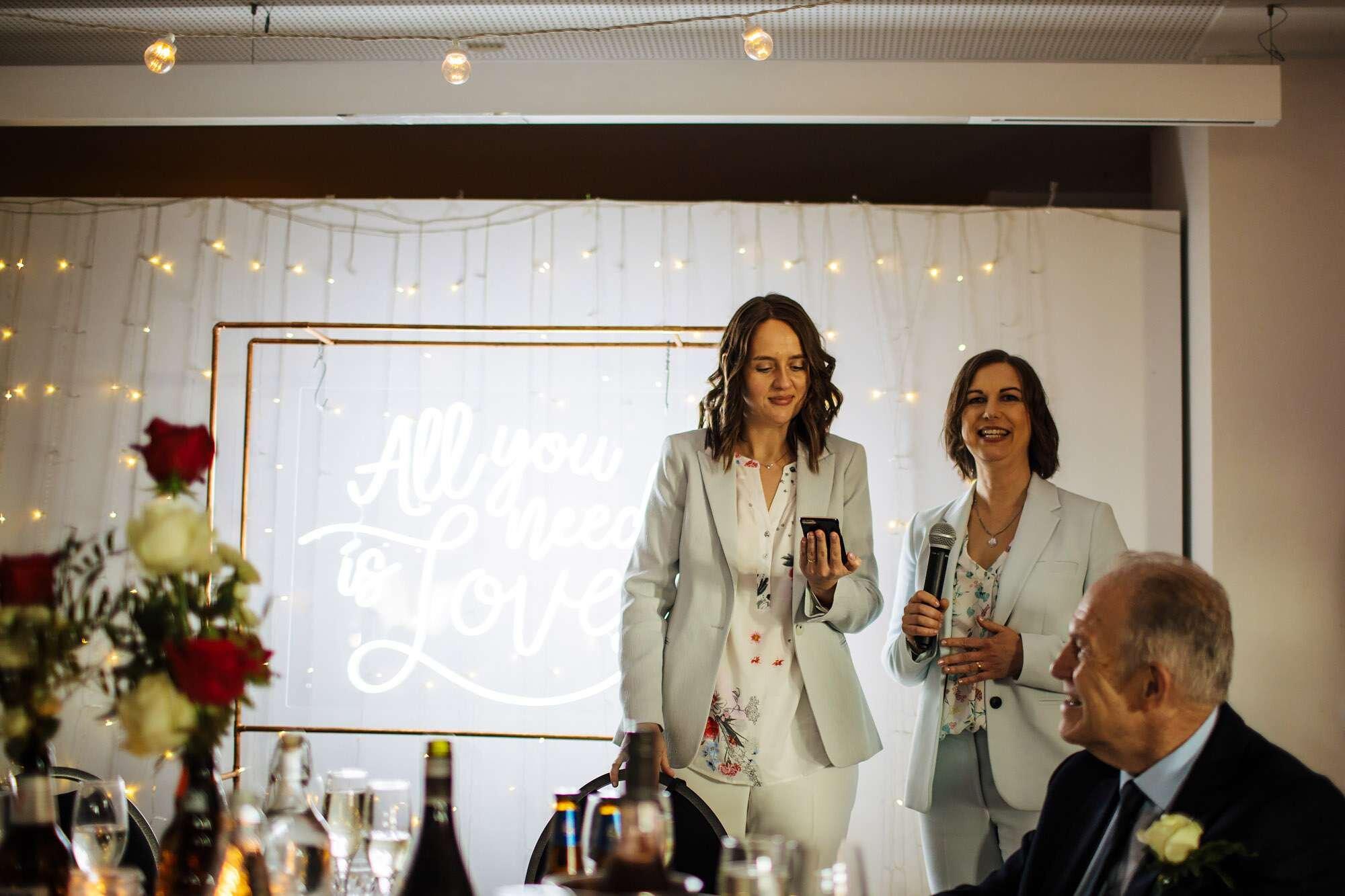 Wedding speech at The Tetley Leeds