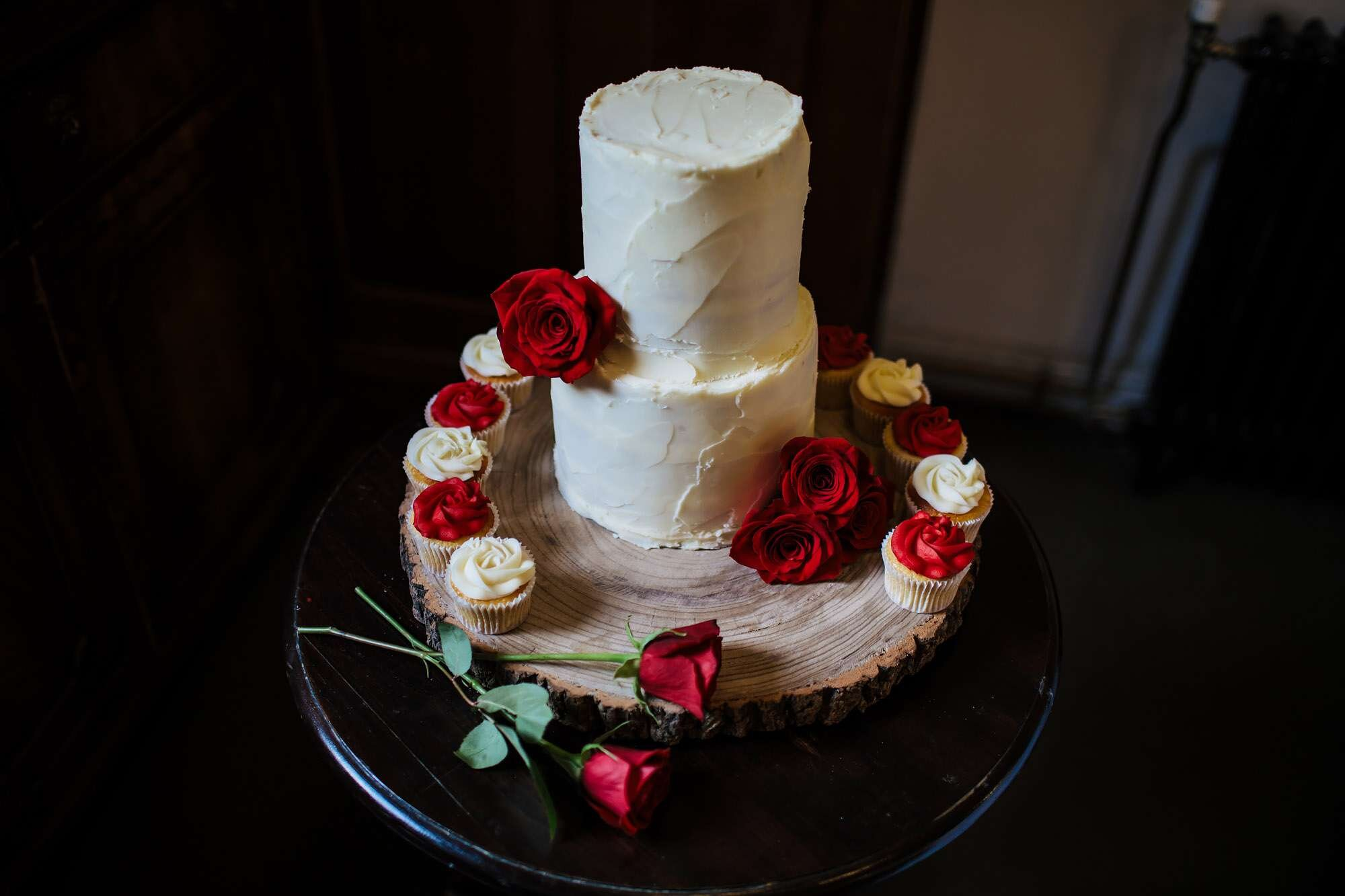 Cake at a brewery wedding
