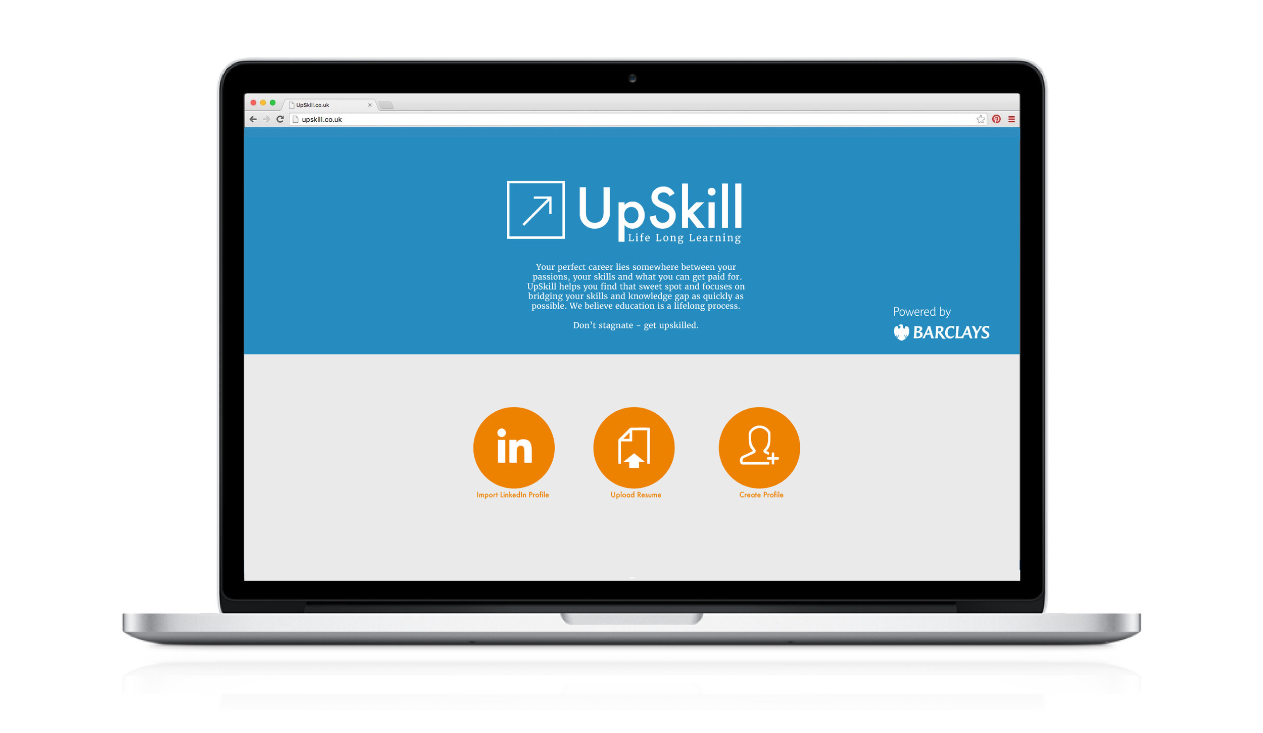 Firstly, UpSkill needs to form a profile of the user. This assesses their education and employment backgrounds, career aspirations and any other skills the user may have.