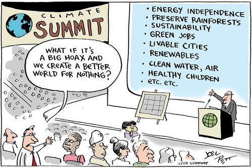 Climate Change denier logic. Source: Joel Pett