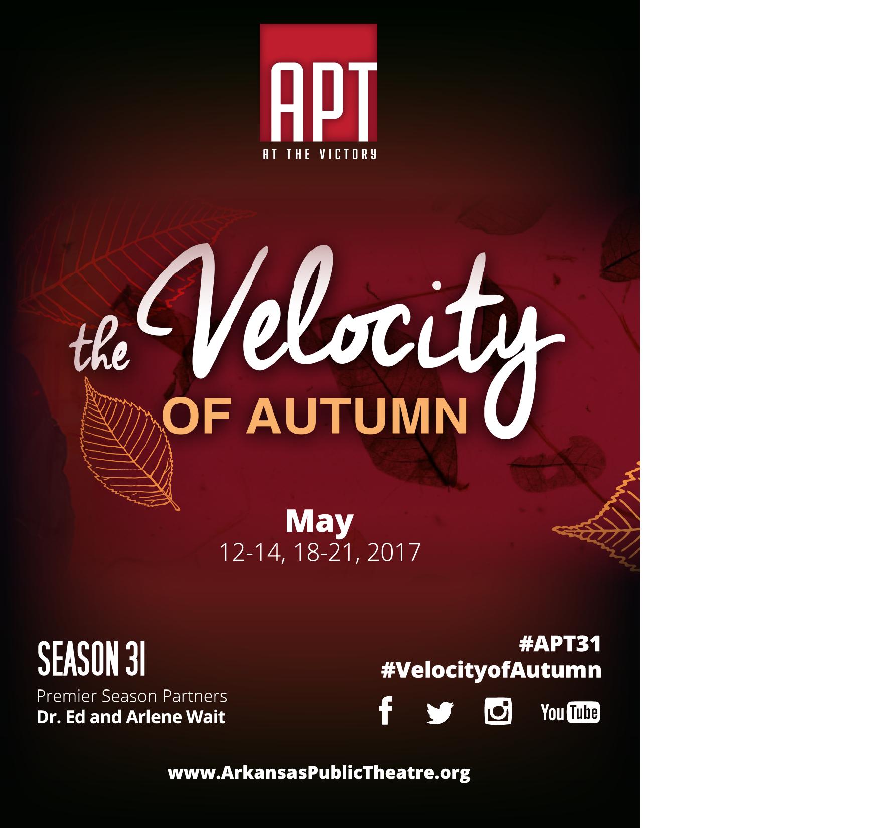 Season 31 | THE VELOCITY OF AUTUMN