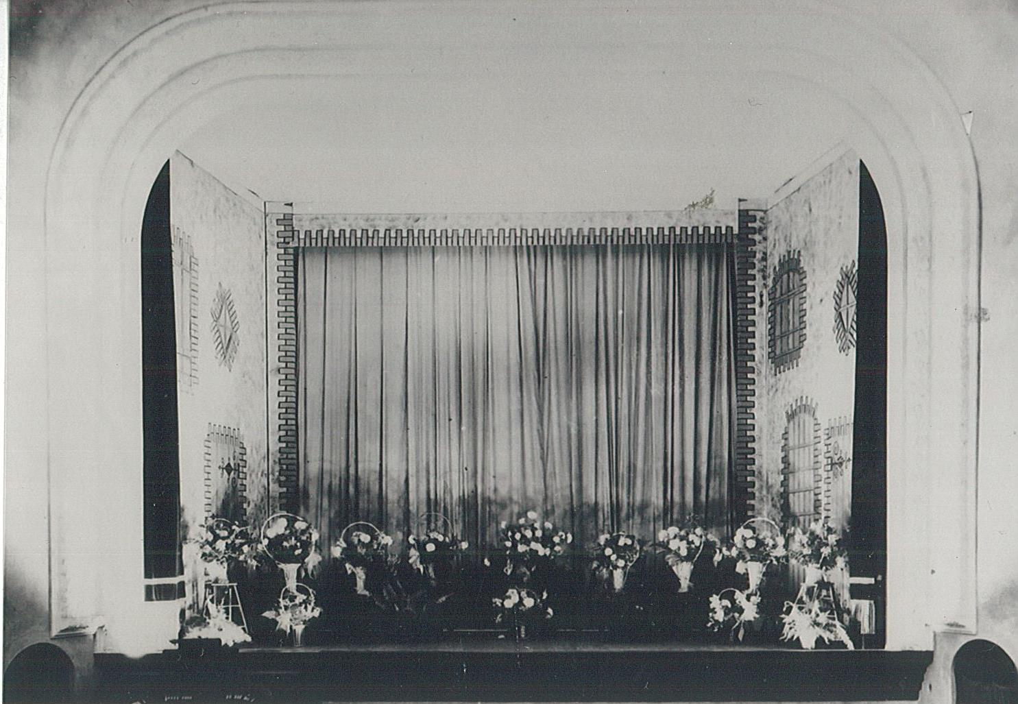 stage decorated for grand opening 1927.jpg