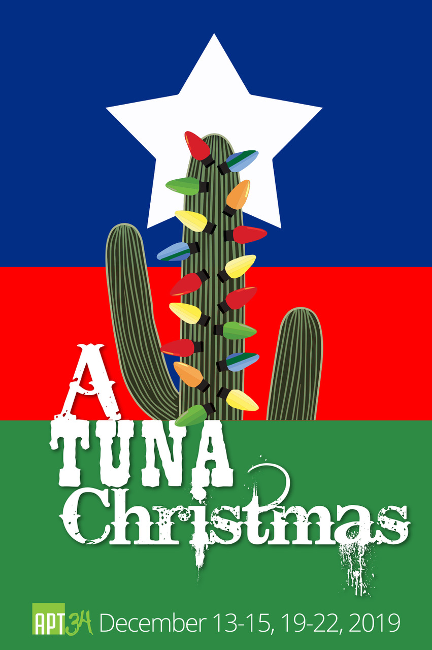 A Tuna Christmas - In this hilarious sequel to Greater Tuna, it's Christmas in the third-smallest town in Texas. Radio station OKKK news personalities Thurston Wheelis and Arles Struvie report on various Yuletide activities, including the hot competition in the annual lawn-display contest. In other news, voracious Joe Bob Lipsey's production of A Christmas Carol is jeopardized by unpaid electric bills. Many colorful Tuna denizens, some you will recognize from Greater Tuna and some appearing here for the first time, join in the holiday fun. A Tuna Christmas is a total delight for all seasons.
