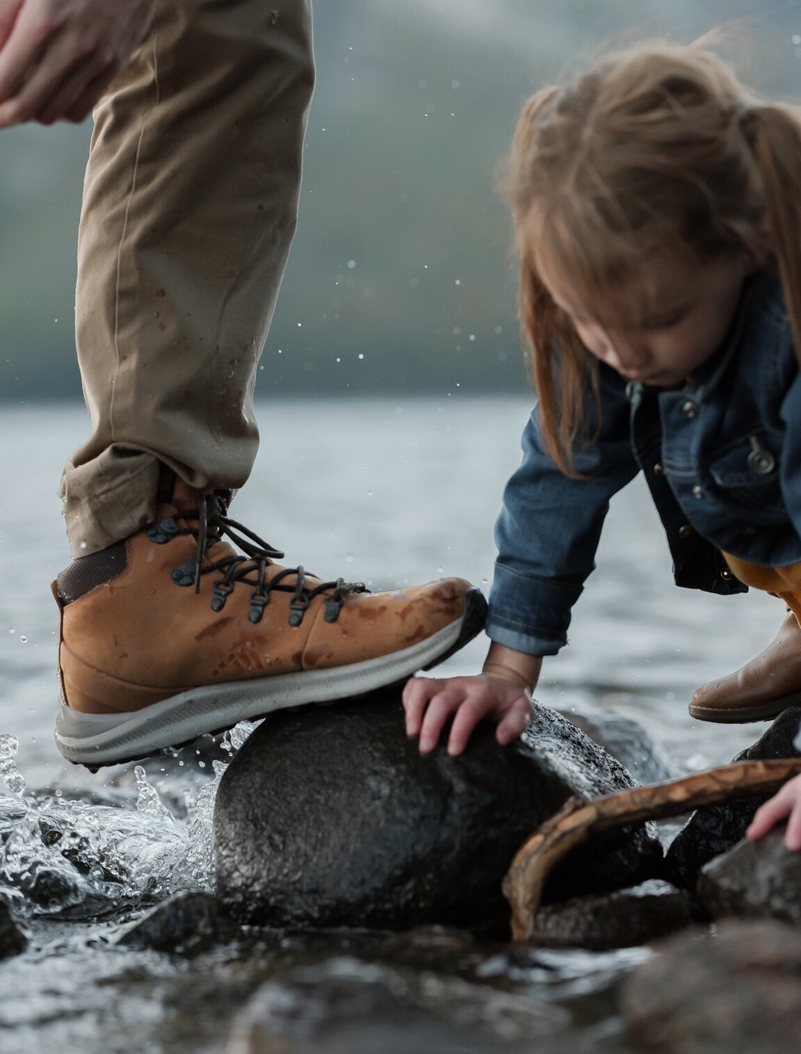 No more soggy feet after chasing down a kid or two through the mud! -