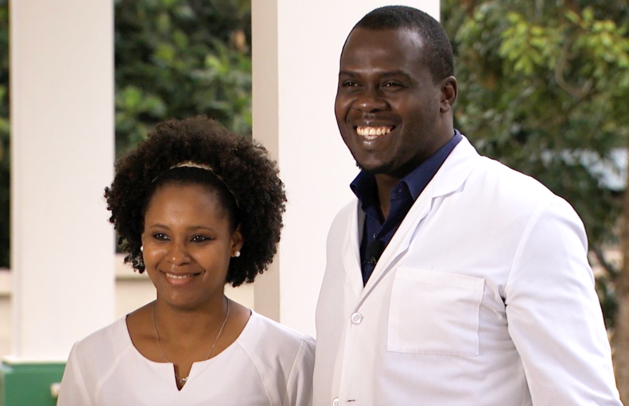 Dr. Wislyn and his wife, Suschana. Suschana is a nurse at CHIDA.