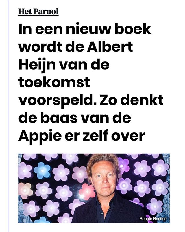 Mooi interview in Het Parool nav Appie Tomorrow