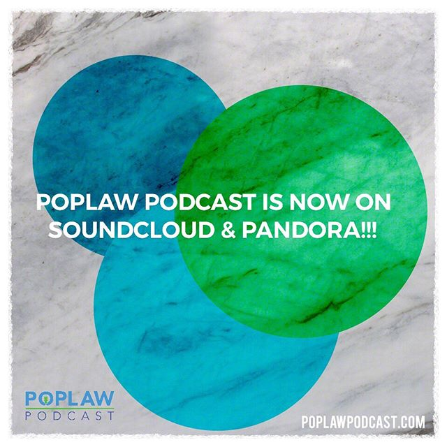 You can now listen to POPLAW on SoundCloud and Pandora Radio!