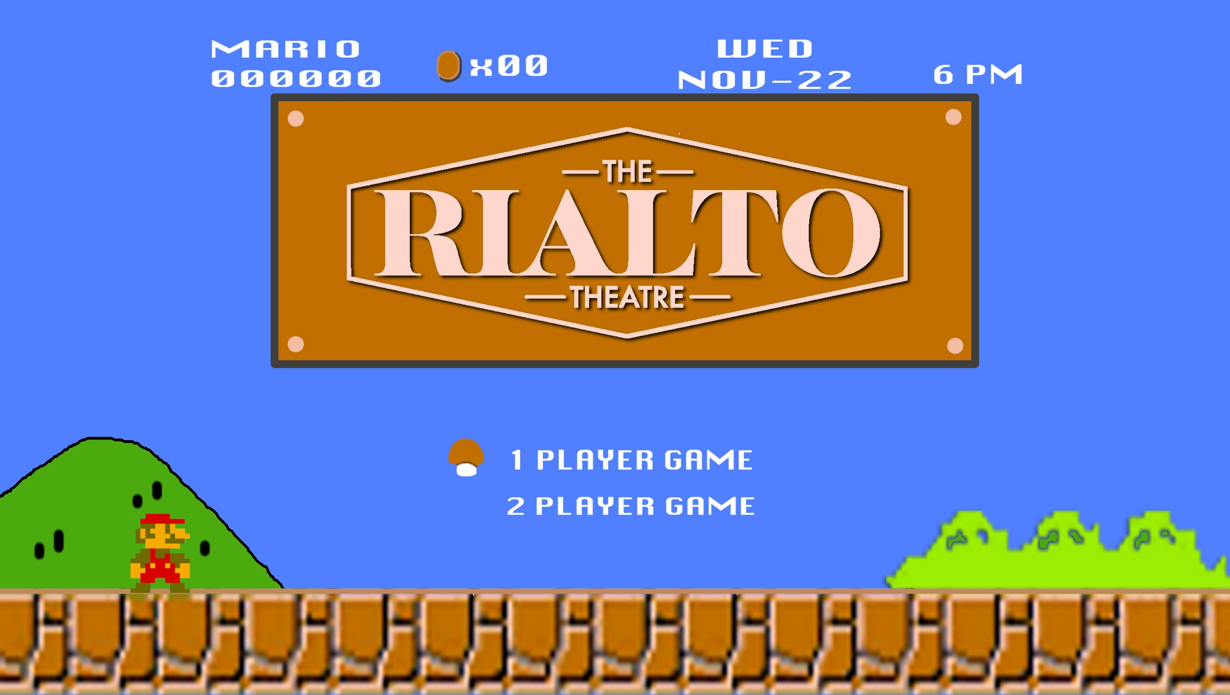 """Come play video games and board games at The Rialto Theatre the night before Thanksgiving!!! We are bringing out all the memorable consoles with different tournaments to join on the big screens! Hosted by Tim """"Lokii"""" Henry. Thanksgiving drink specials will be available at the bar.  $5 at the door   RSVP on the Facebook Event Page!"""