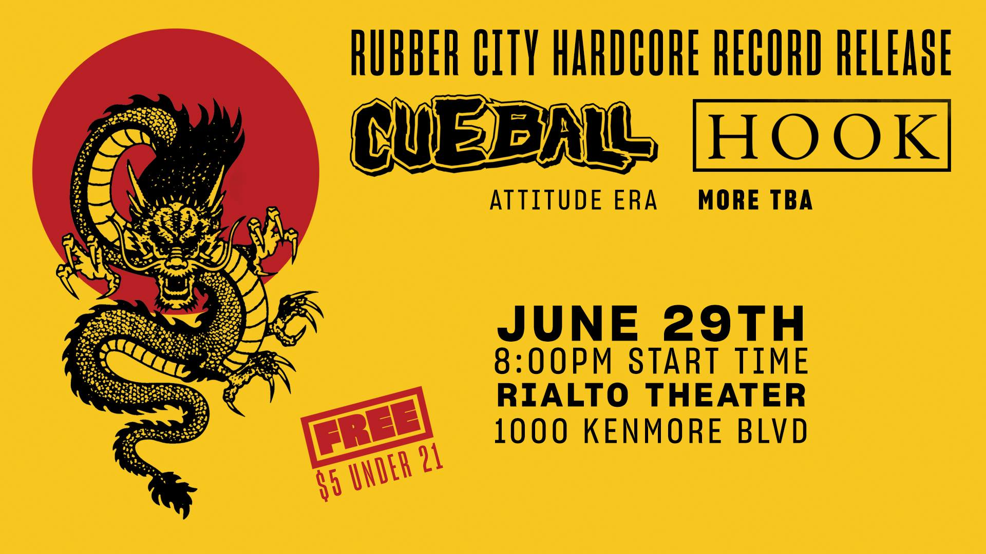 Split EP release show for two new Akron hardcore bands: Hook & Cueball.