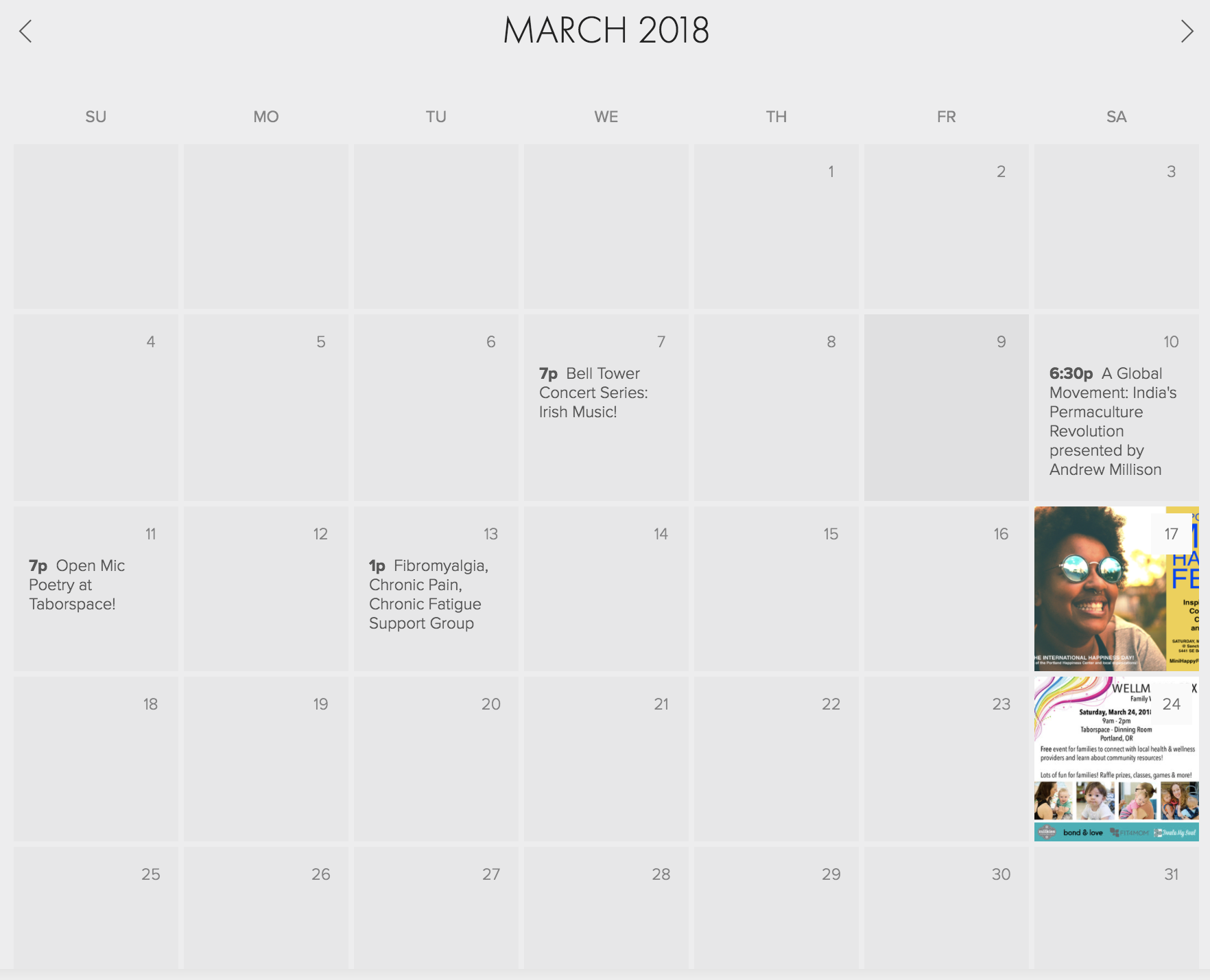 CALENDAR PREVIEW - Here's a glimpse at the Public Events Calendar!
