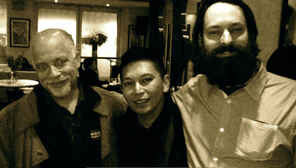 After session drinks with Dan Hill and Gavin Brown