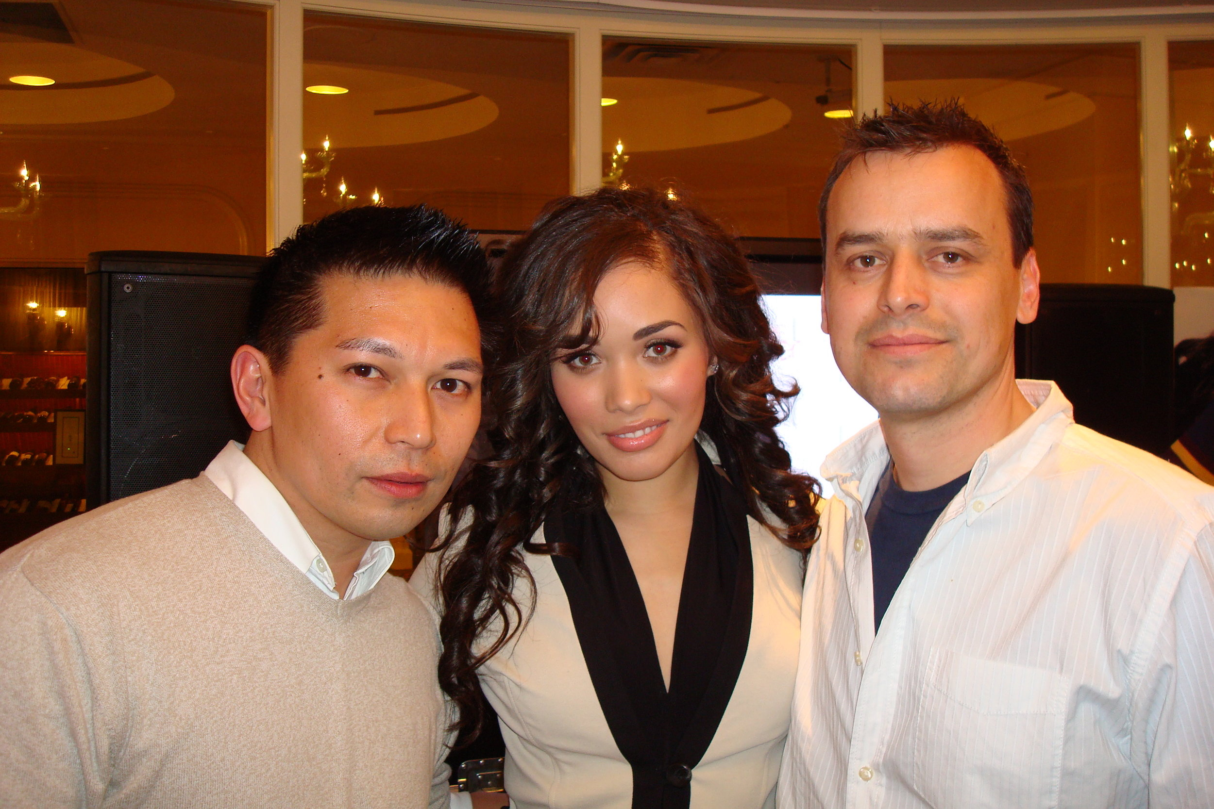 Kreesha Turner with Hipjoint's Mike and Troy