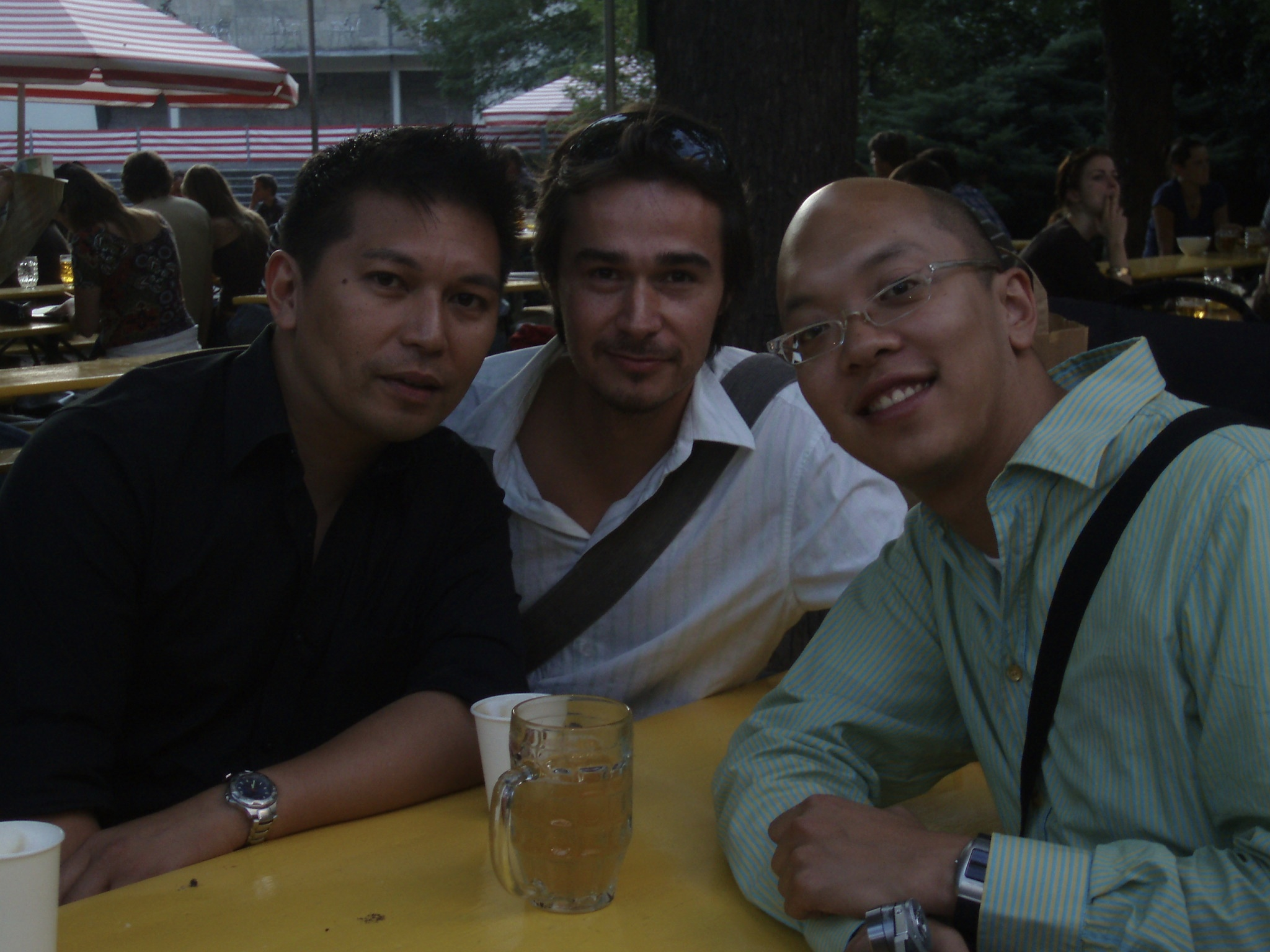 Reunion with former Booya producer partners Ernest TD and NC Thanh in Berlin