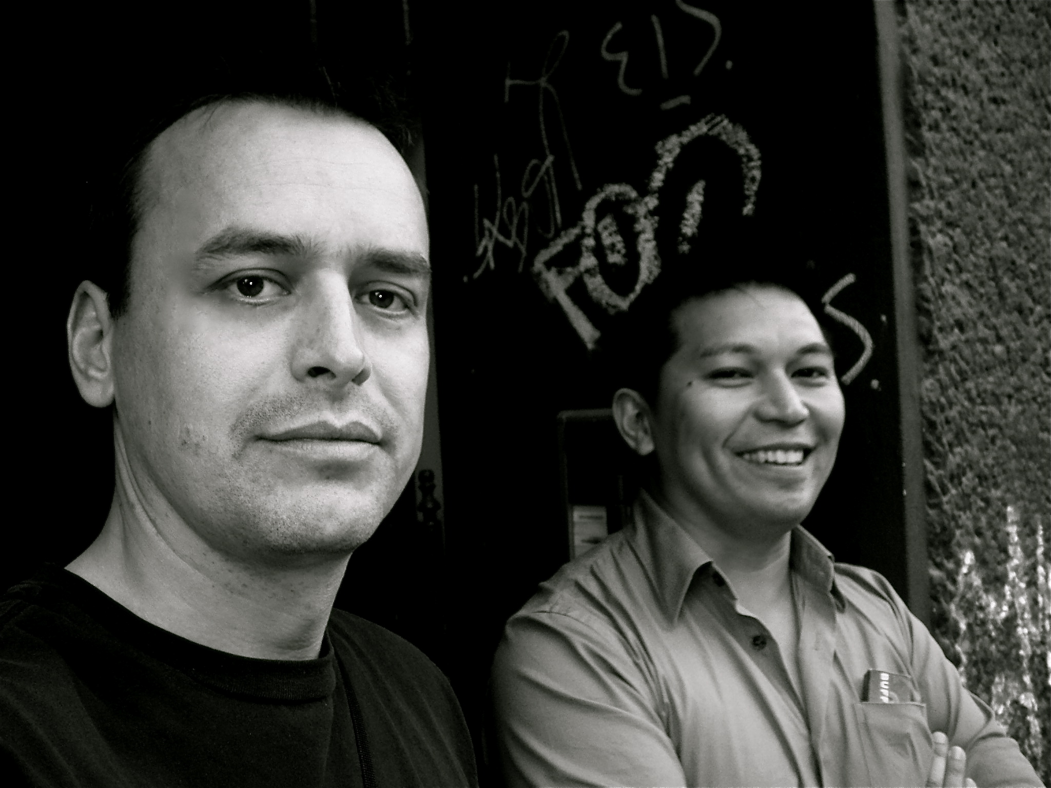 Mike James and I in Berlin / Popkomm 2007