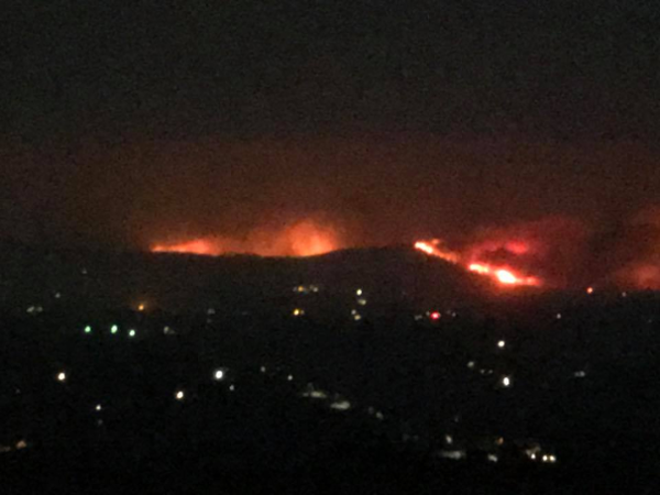The view from my window as the devastating California wildfires hit close to home.